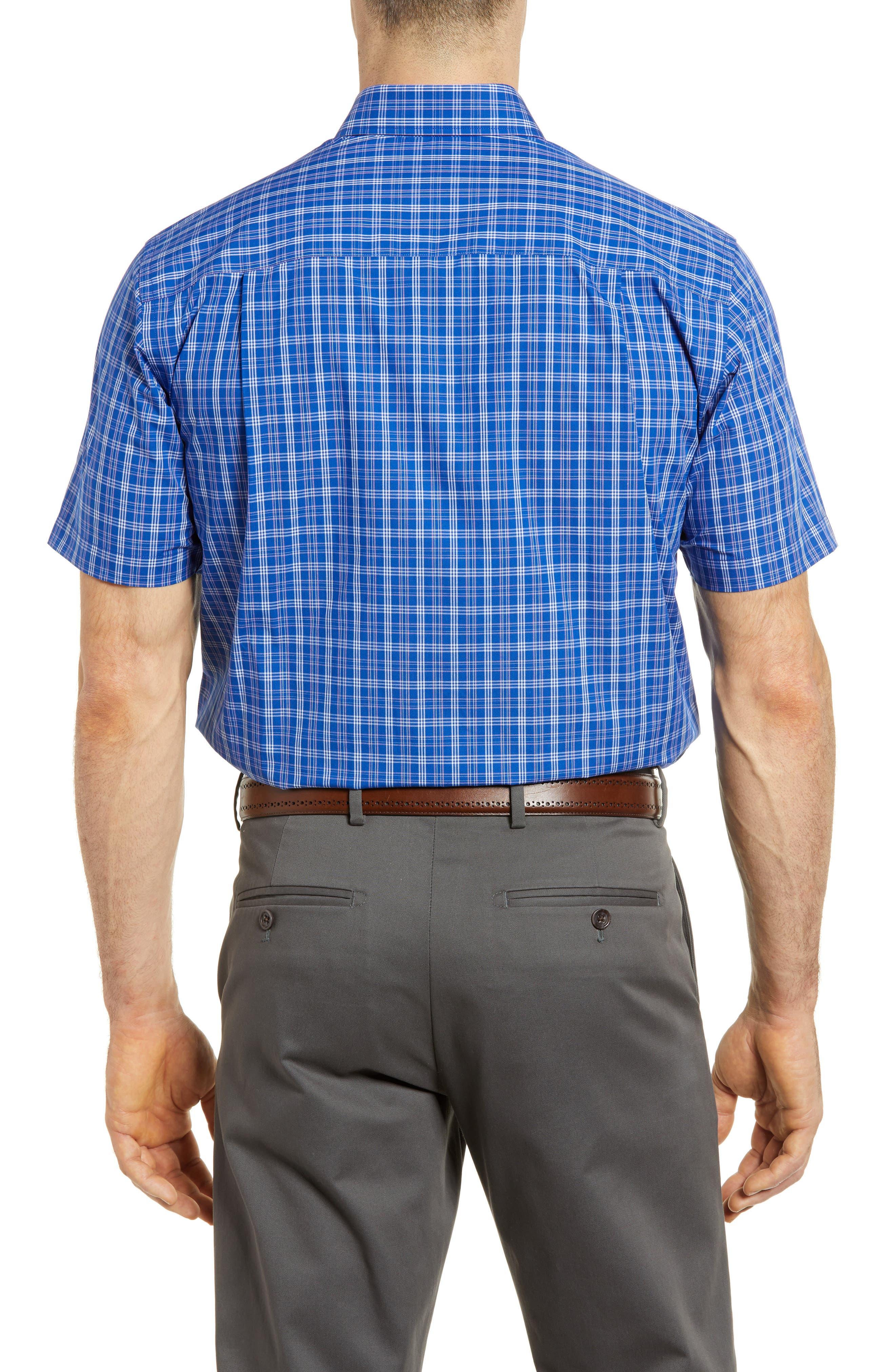 Leo Plaid Easy Care Woven Shirt,                             Alternate thumbnail 2, color,                             Bolt