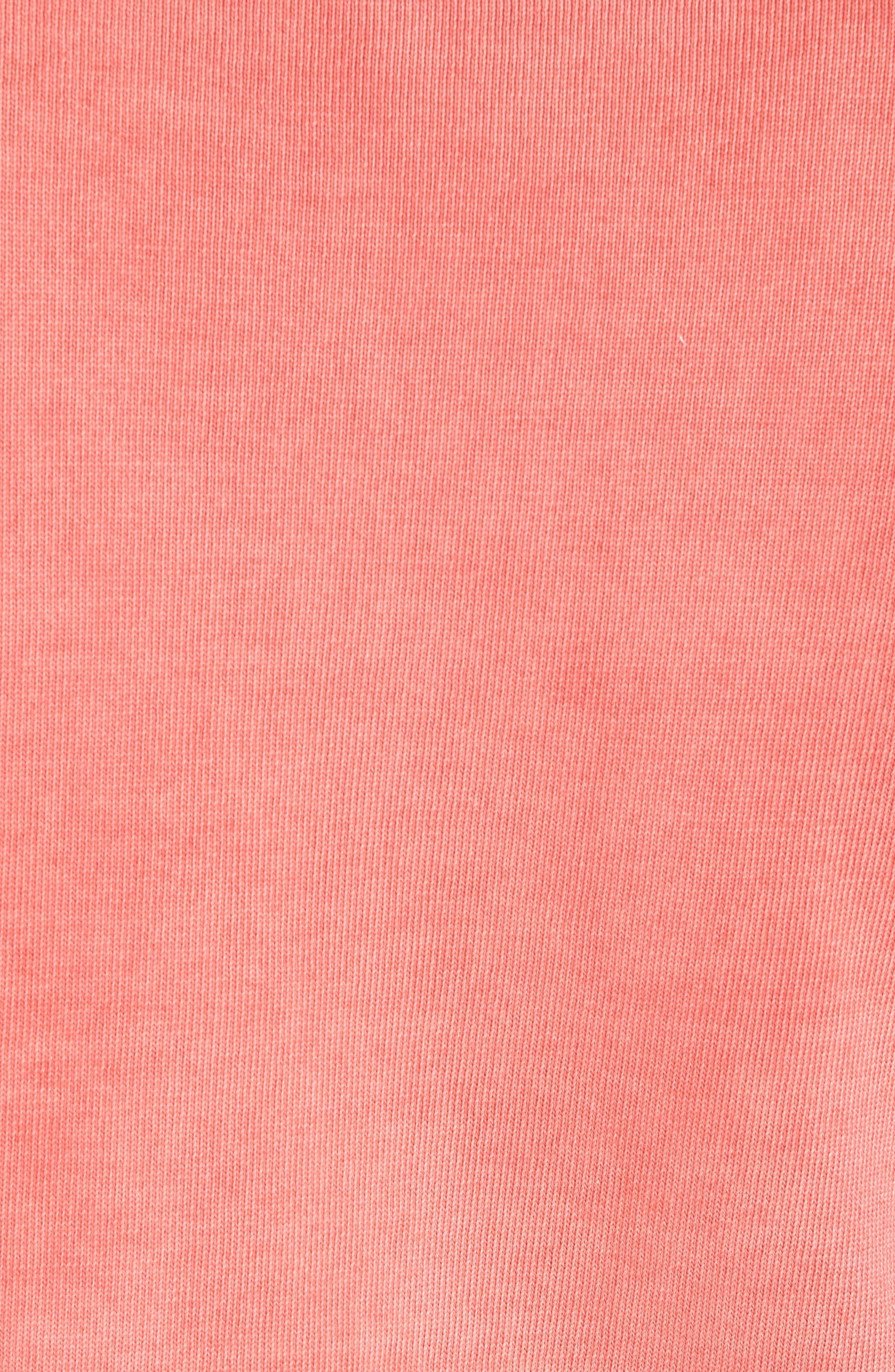 Stonewash Cotton Sweatshirt,                             Alternate thumbnail 5, color,                             Washed Coral