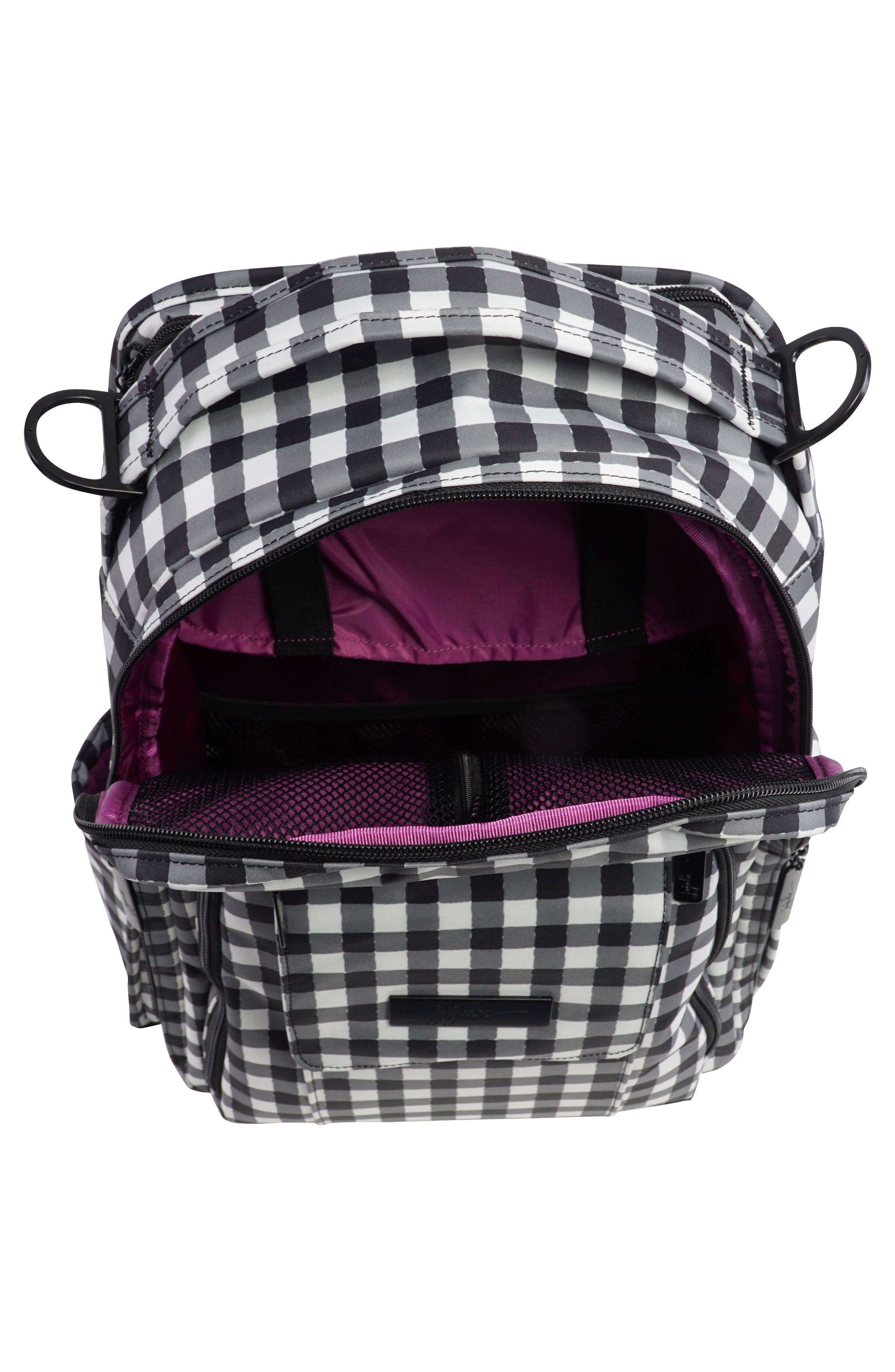 'Be Right Back - Onyx Collection' Diaper Backpack,                             Alternate thumbnail 3, color,                             Gingham Style
