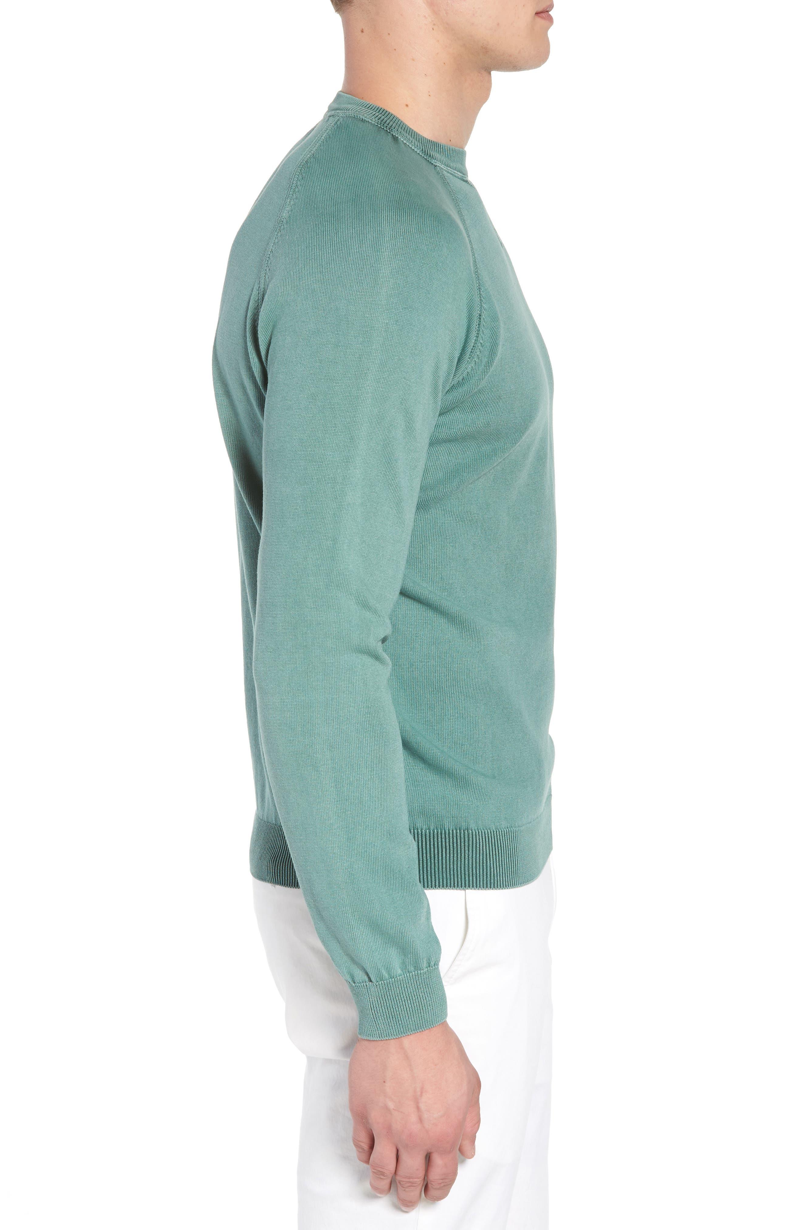 Stonewash Cotton Sweatshirt,                             Alternate thumbnail 3, color,                             Washed Sage