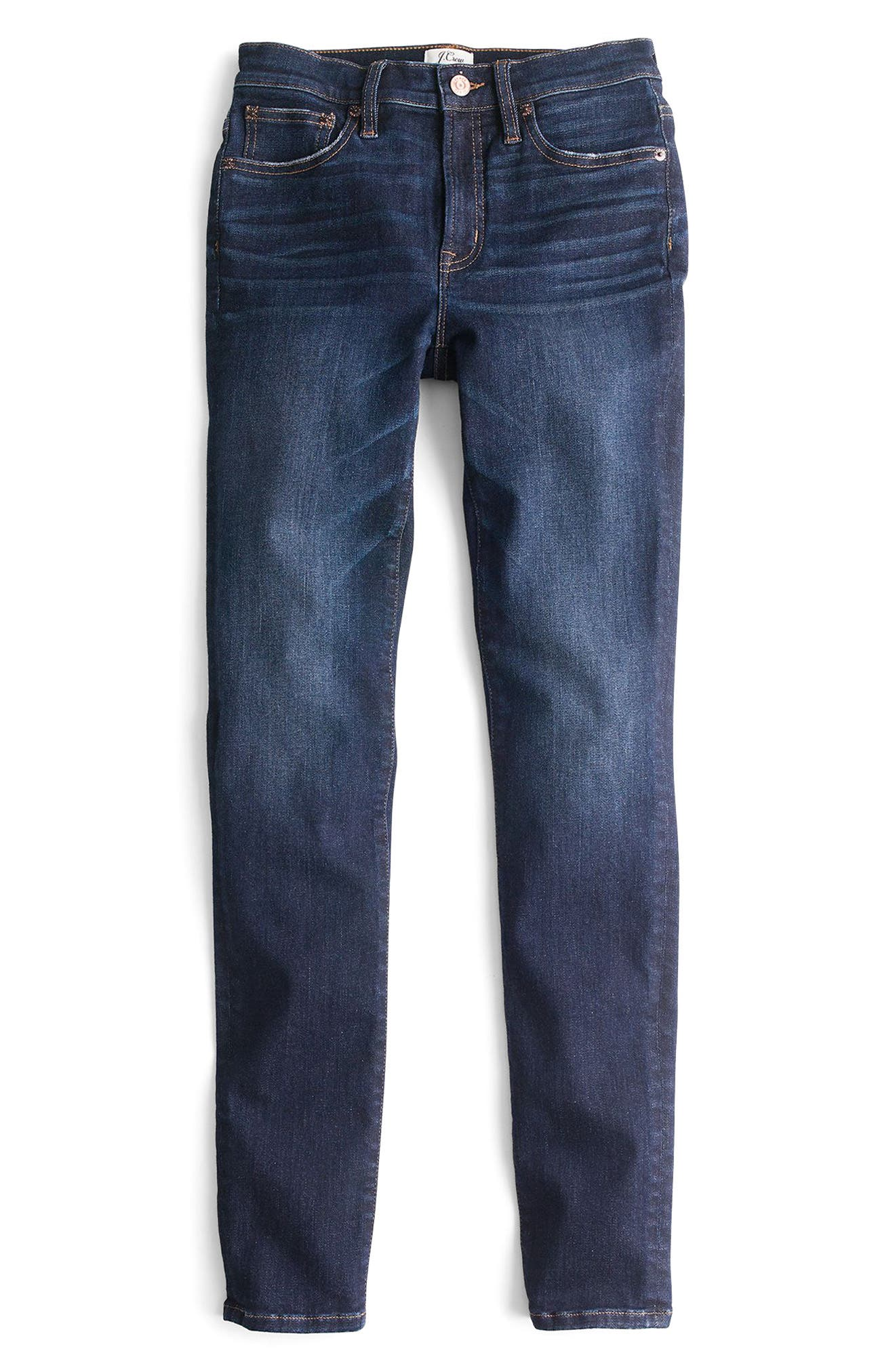 J.Crew High Rise Toothpick Jeans,                             Alternate thumbnail 2, color,                             Solano Wash