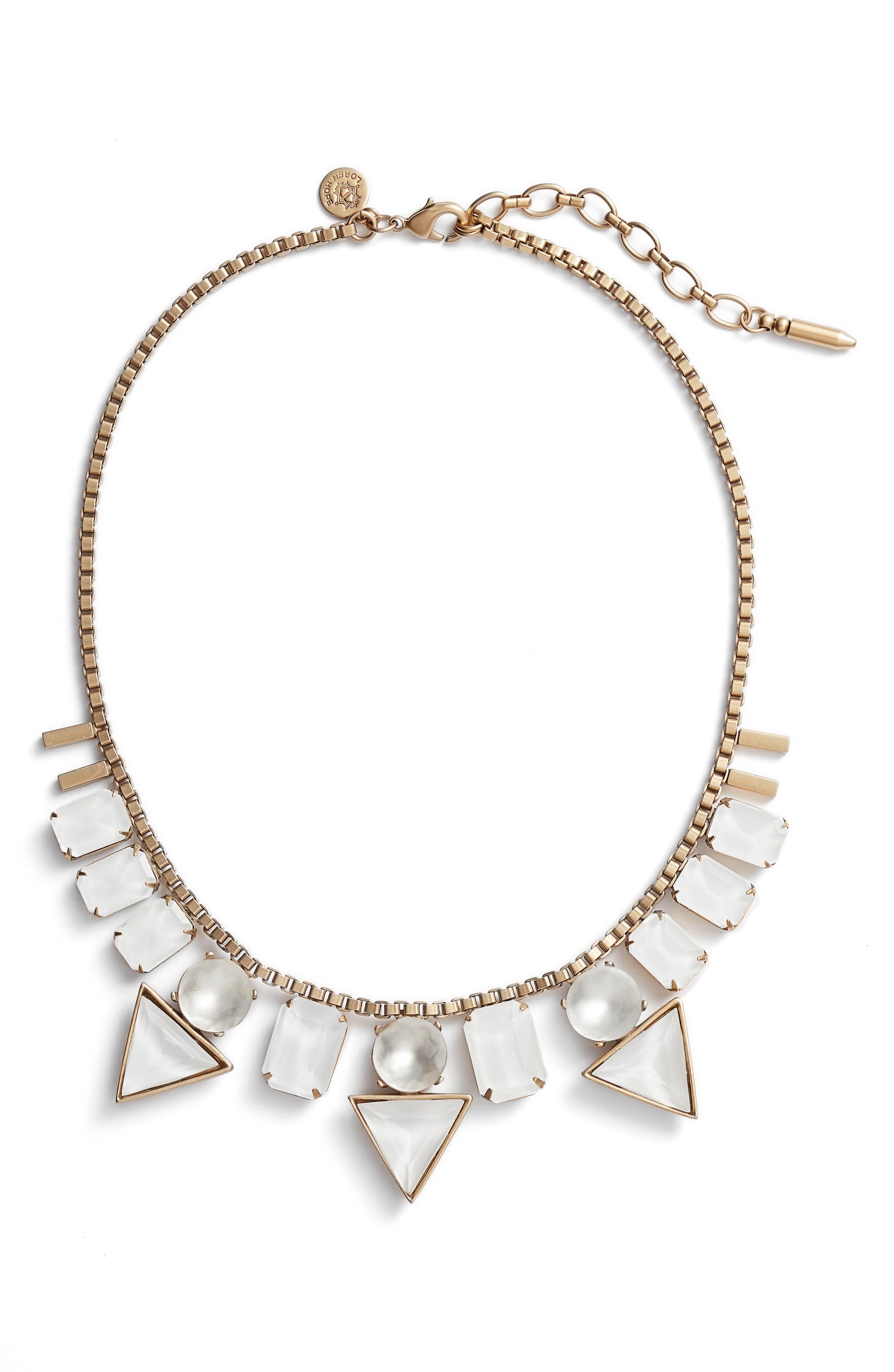 Loren Hope Skylar Box Chain Crystal Necklace