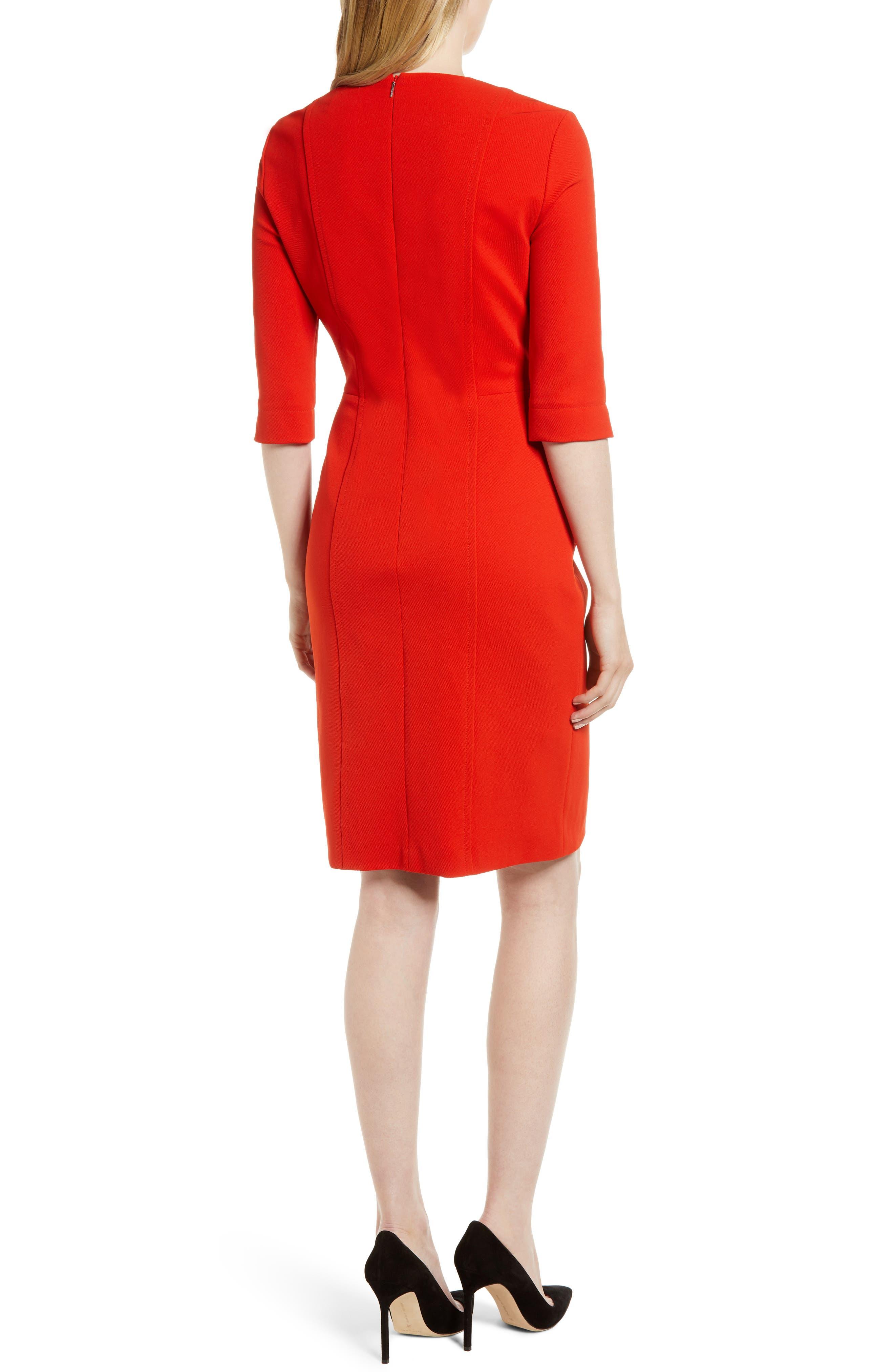 Alternate Image 2  - BOSS Deazema Twill Jersey Dress