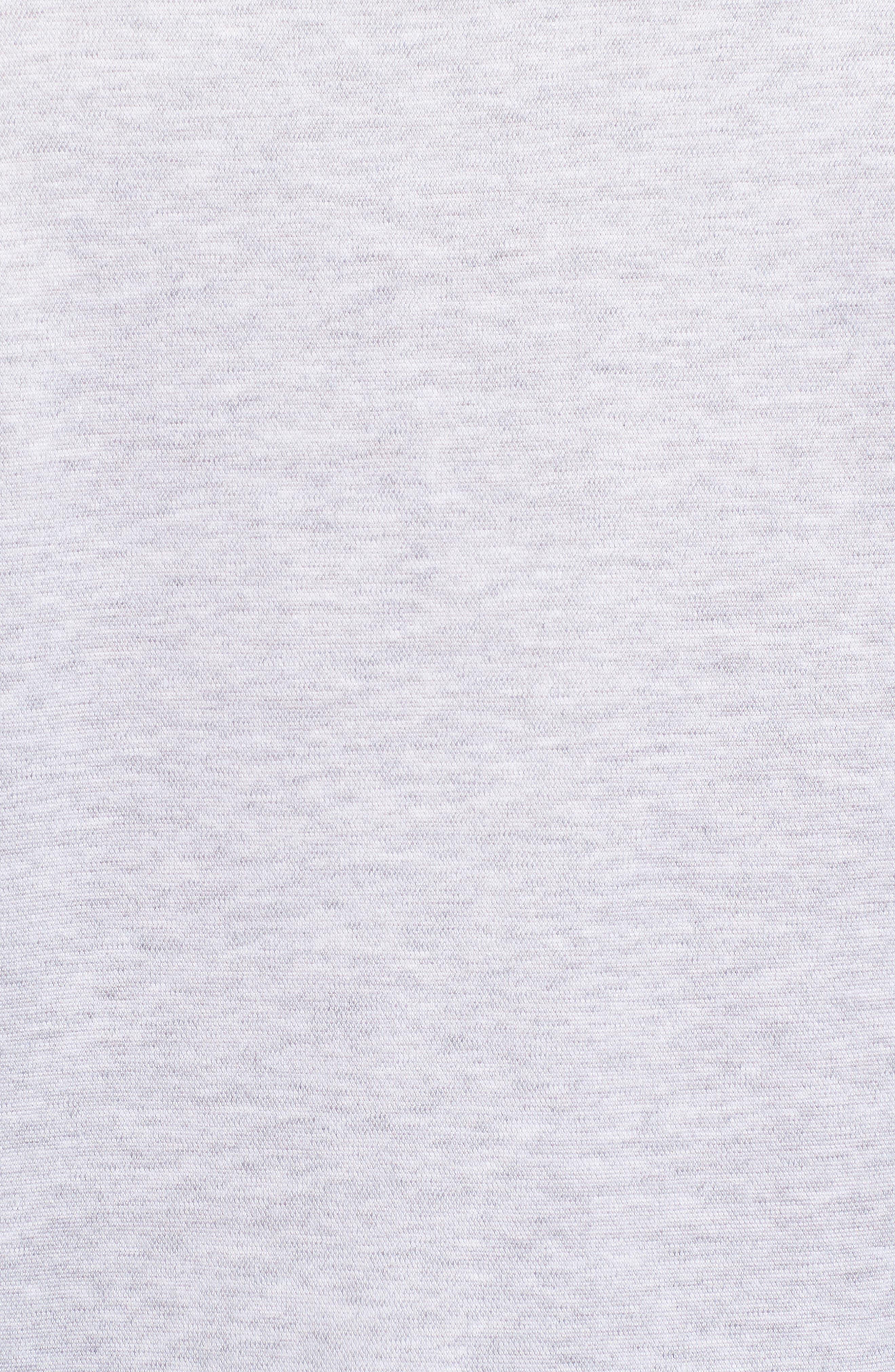 Regular Fit Silk Blend Sport Shirt,                             Alternate thumbnail 5, color,                             Platinum
