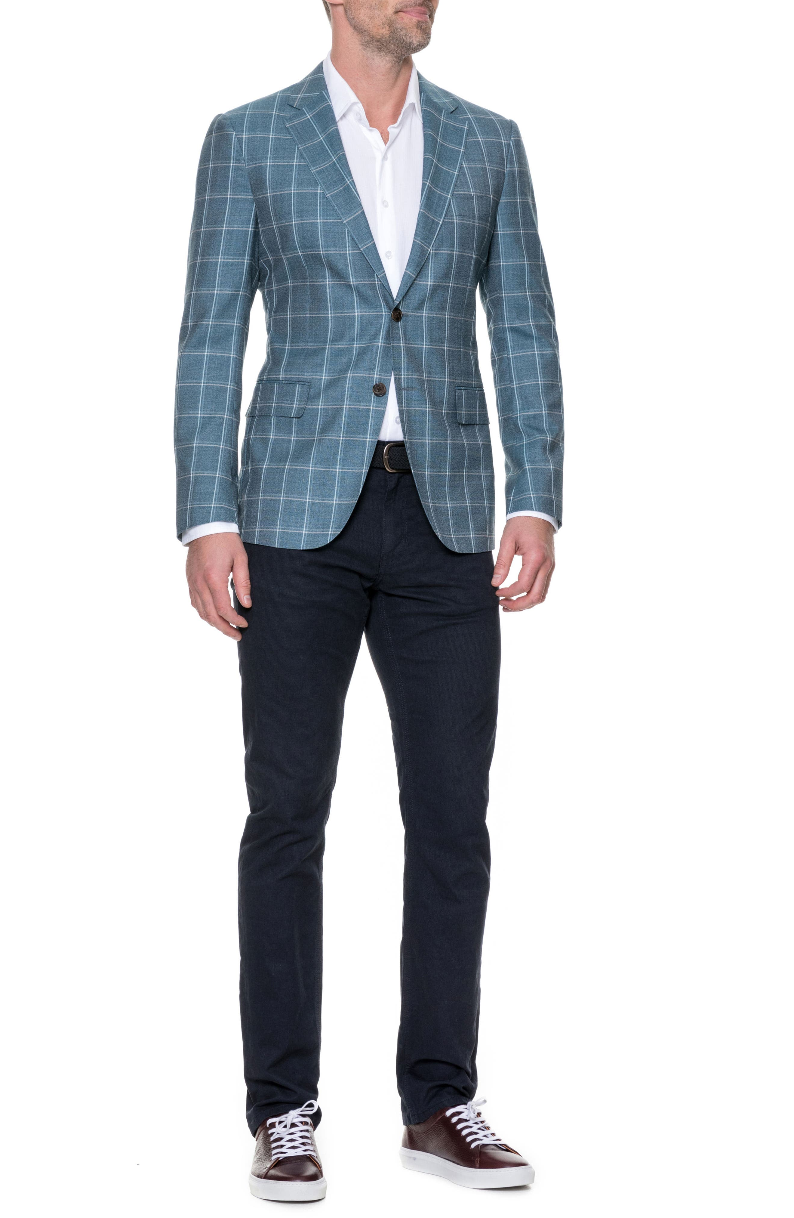 Middleton Regular Fit Wool Sport Coat,                             Alternate thumbnail 4, color,                             Sage