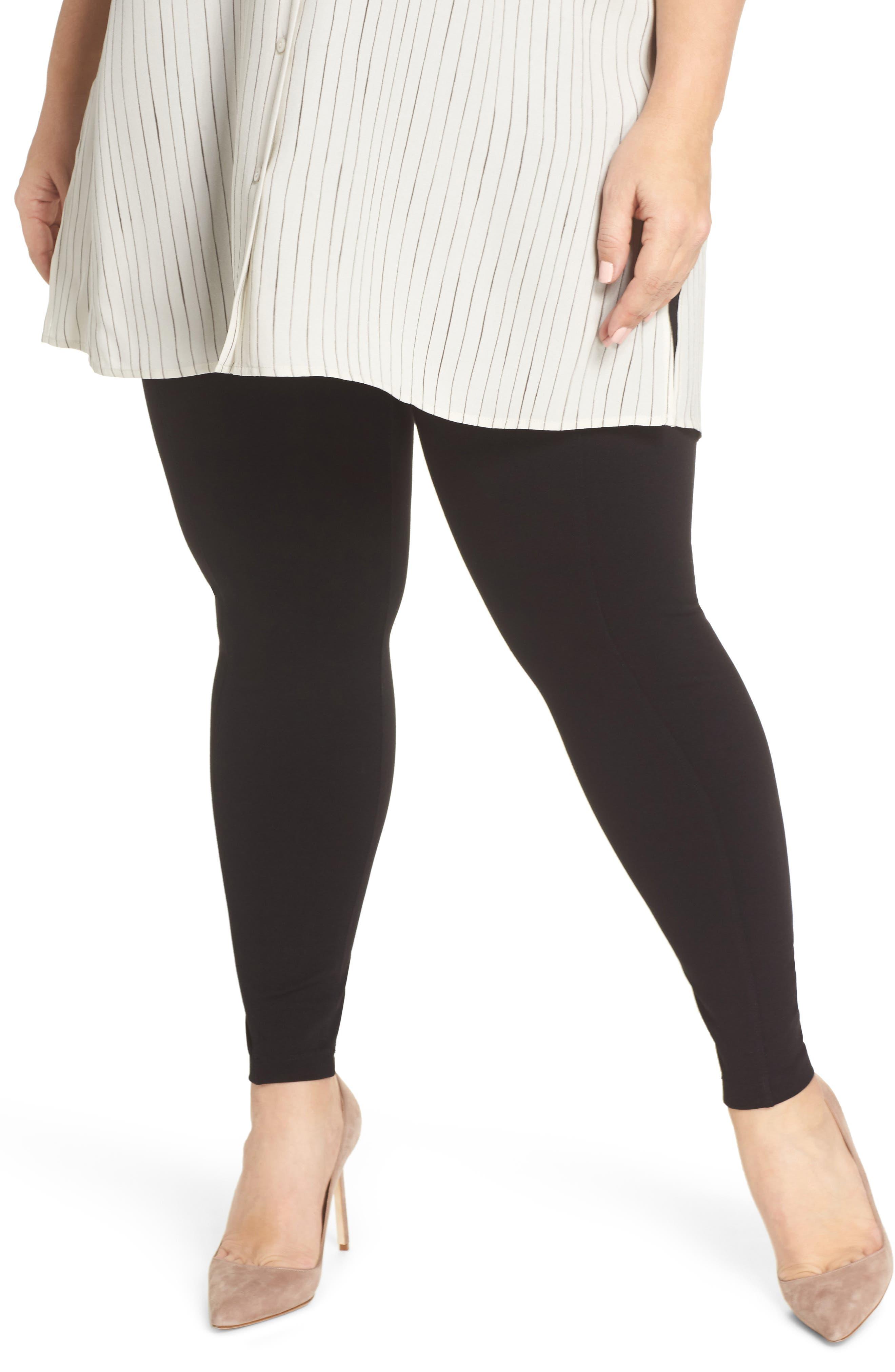 Reese Pintuck Ponte Leggings,                         Main,                         color, Black