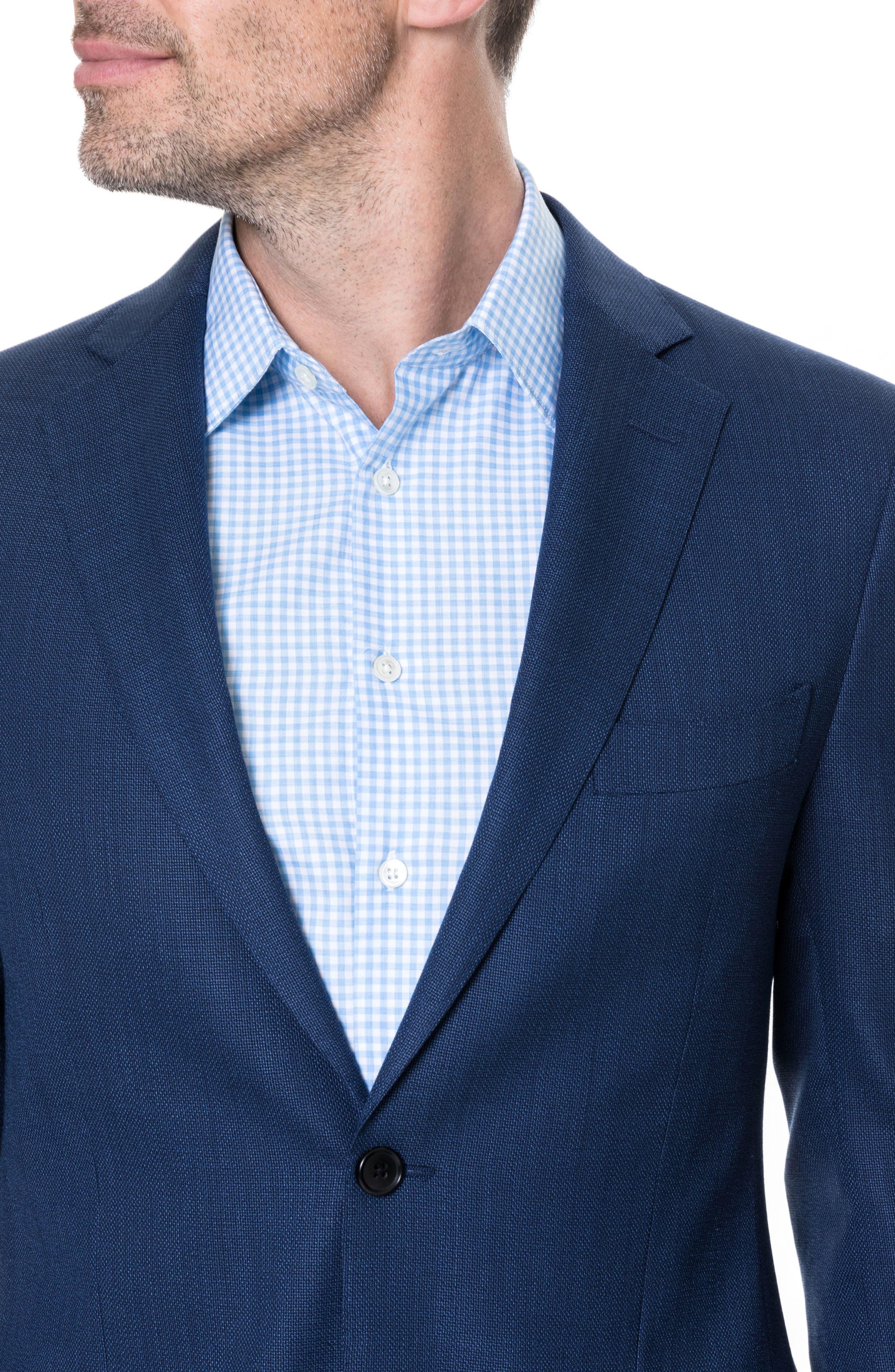 Newbridge Regular Fit Stretch Wool Blazer,                             Alternate thumbnail 3, color,                             Eclipse