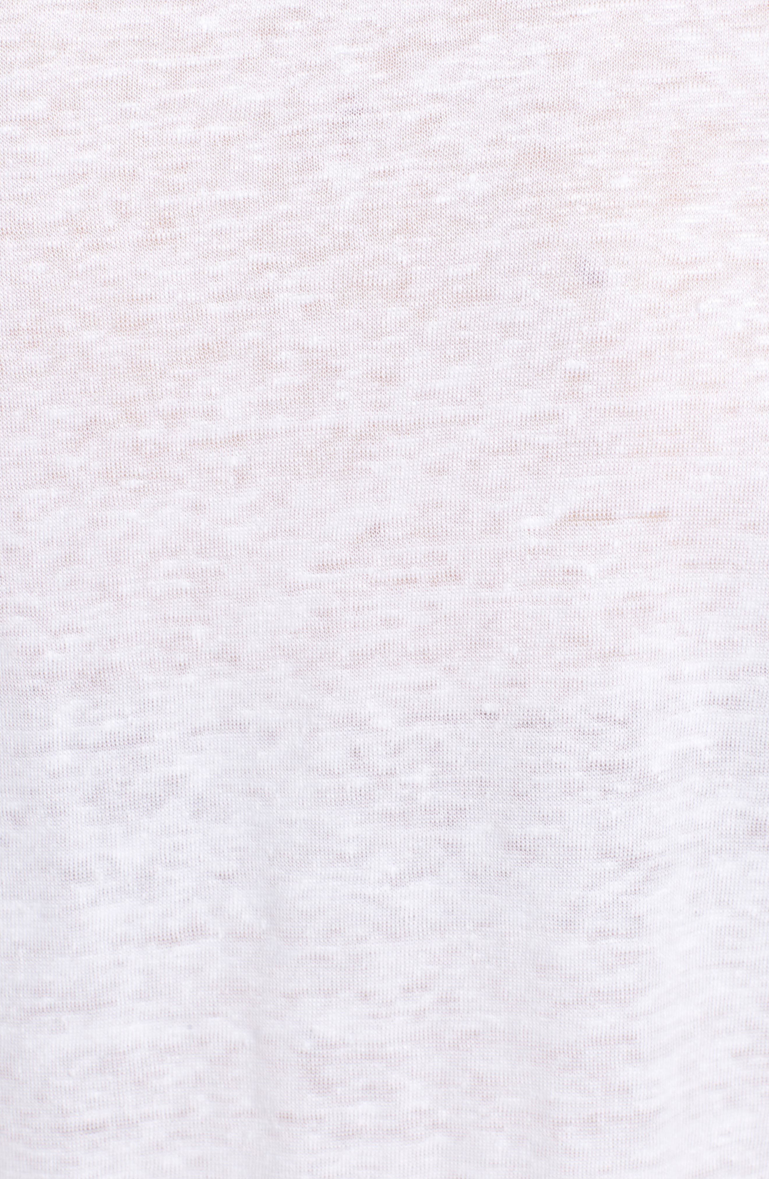 Tunisien MC Graphic Linen Tee,                             Alternate thumbnail 6, color,                             Blanc
