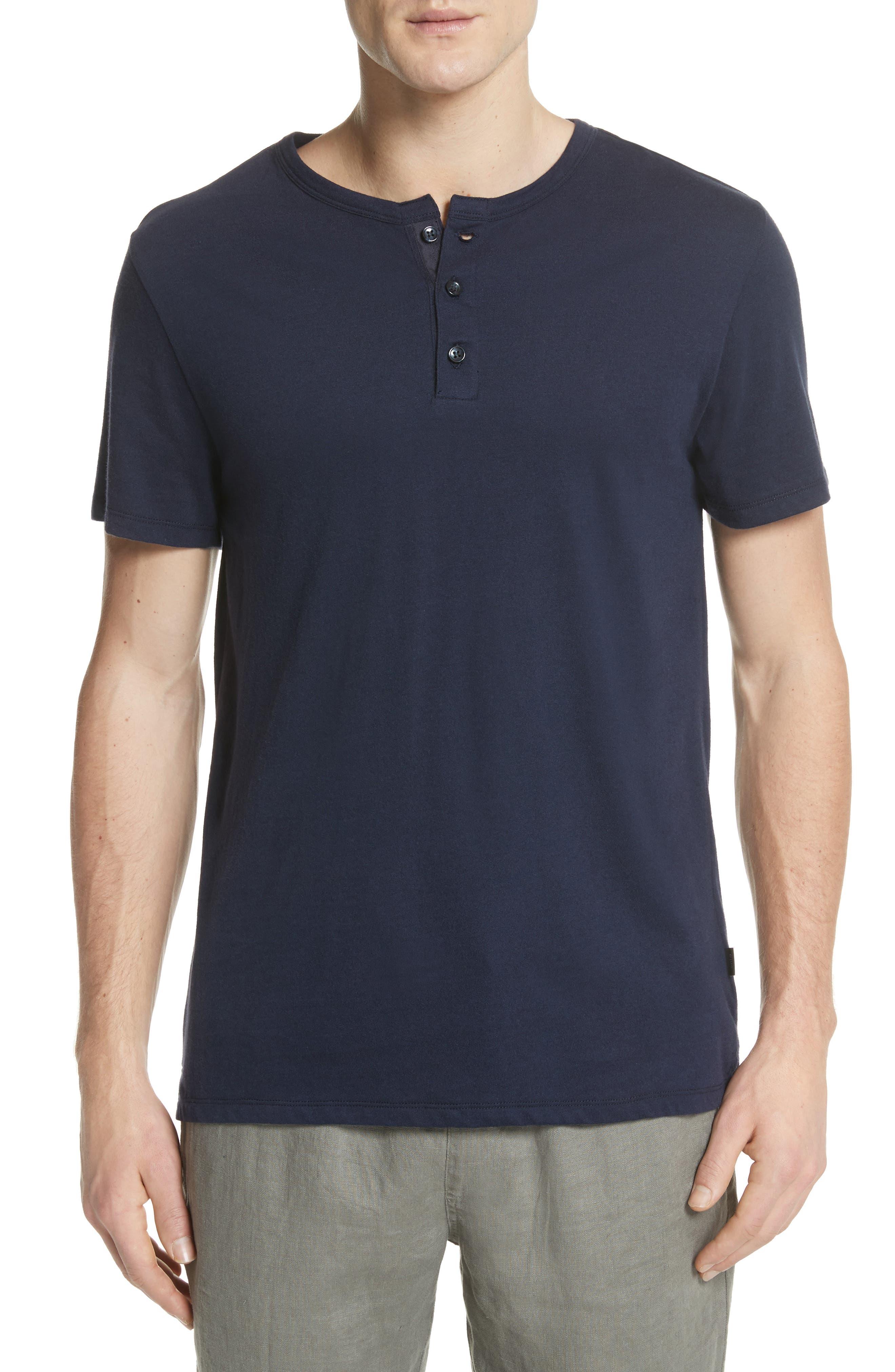 Elliott Henley T-Shirt,                             Main thumbnail 1, color,                             Deep Navy