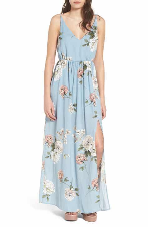floral maxi dress women