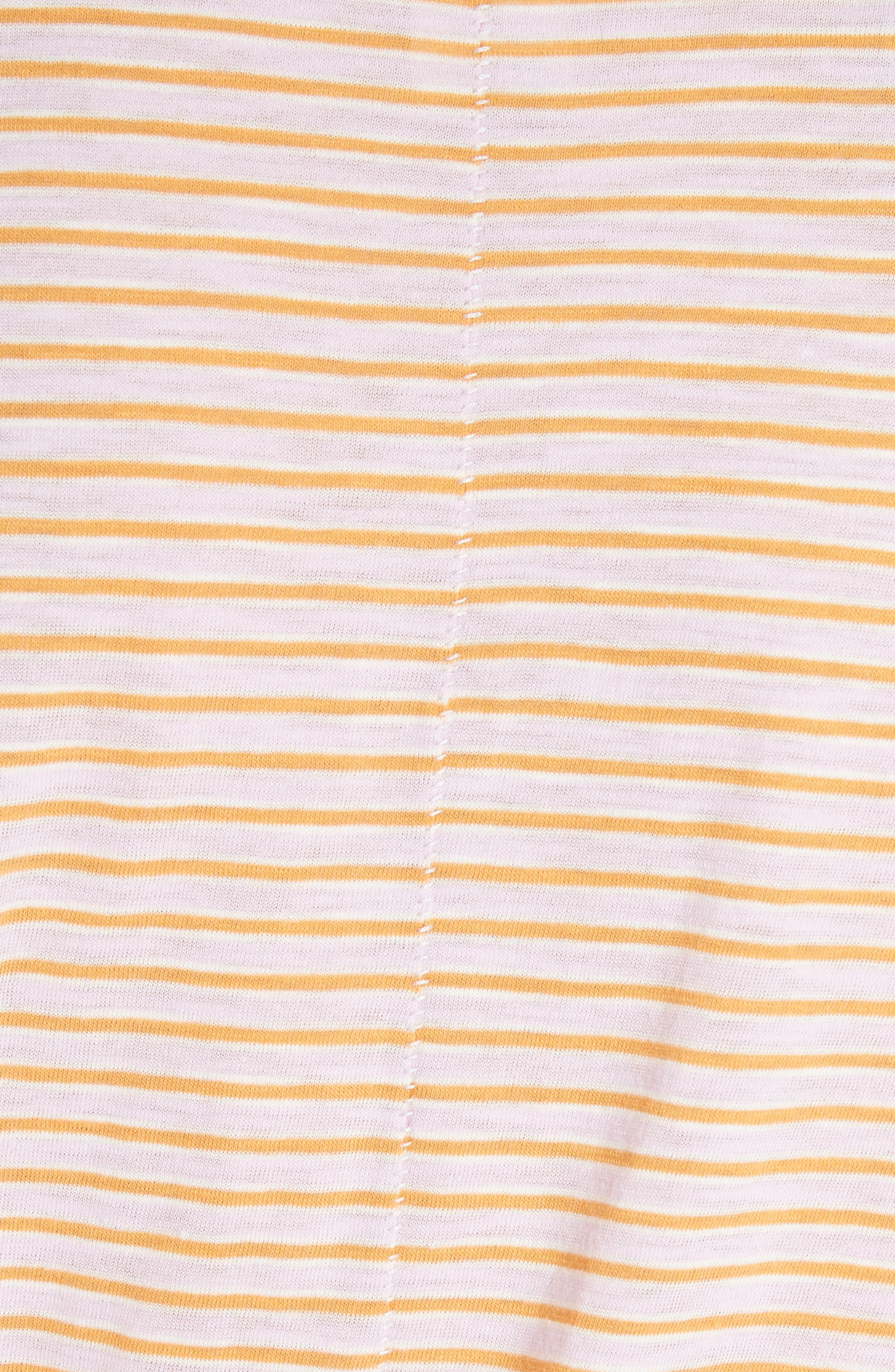 Clare Stripe Tee,                             Alternate thumbnail 5, color,                             Pink Combo