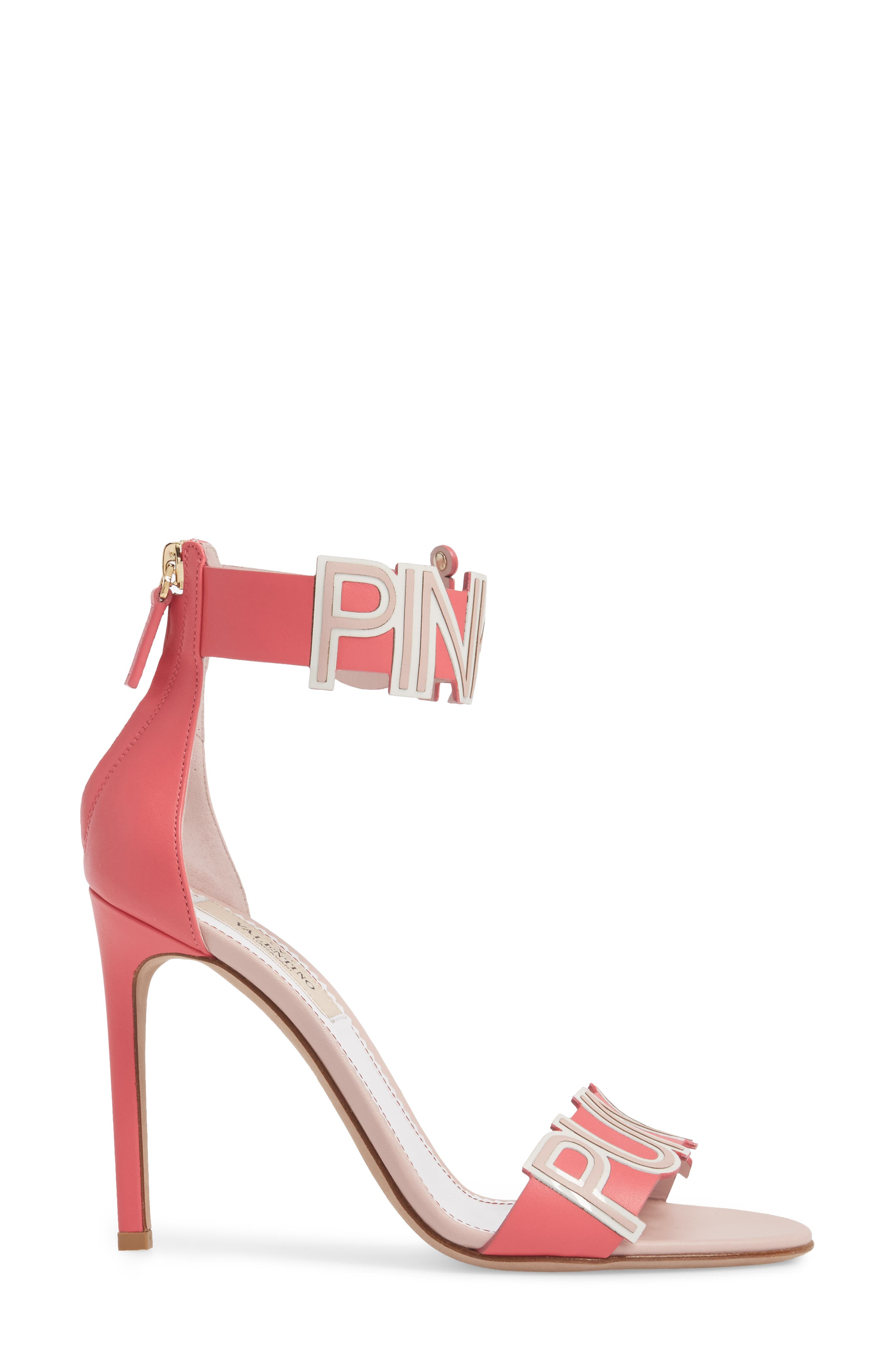 Pink Is Punk Ankle Strap Sandal,                             Alternate thumbnail 3, color,                             Shadow Pink