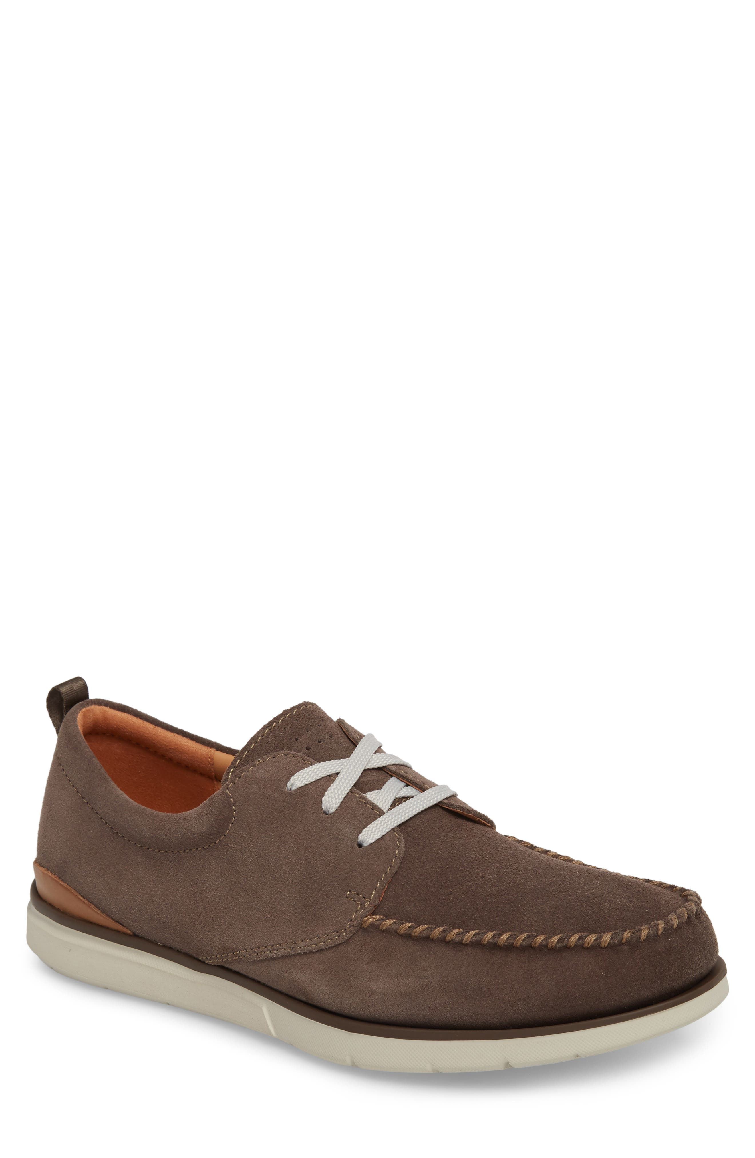Edgewood Mix Moc Toe Derby,                             Main thumbnail 1, color,                             Taupe Suede