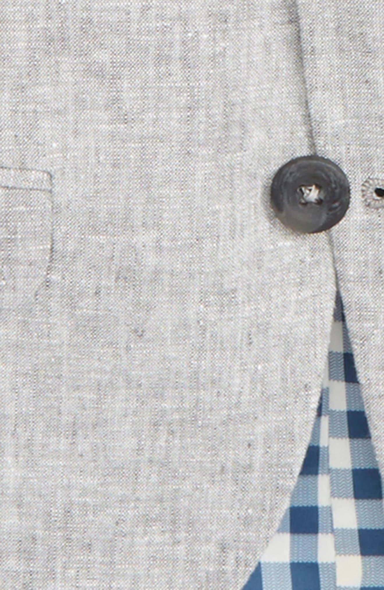 Elliott Linen & Cotton Blazer,                             Alternate thumbnail 2, color,                             Grey Linen