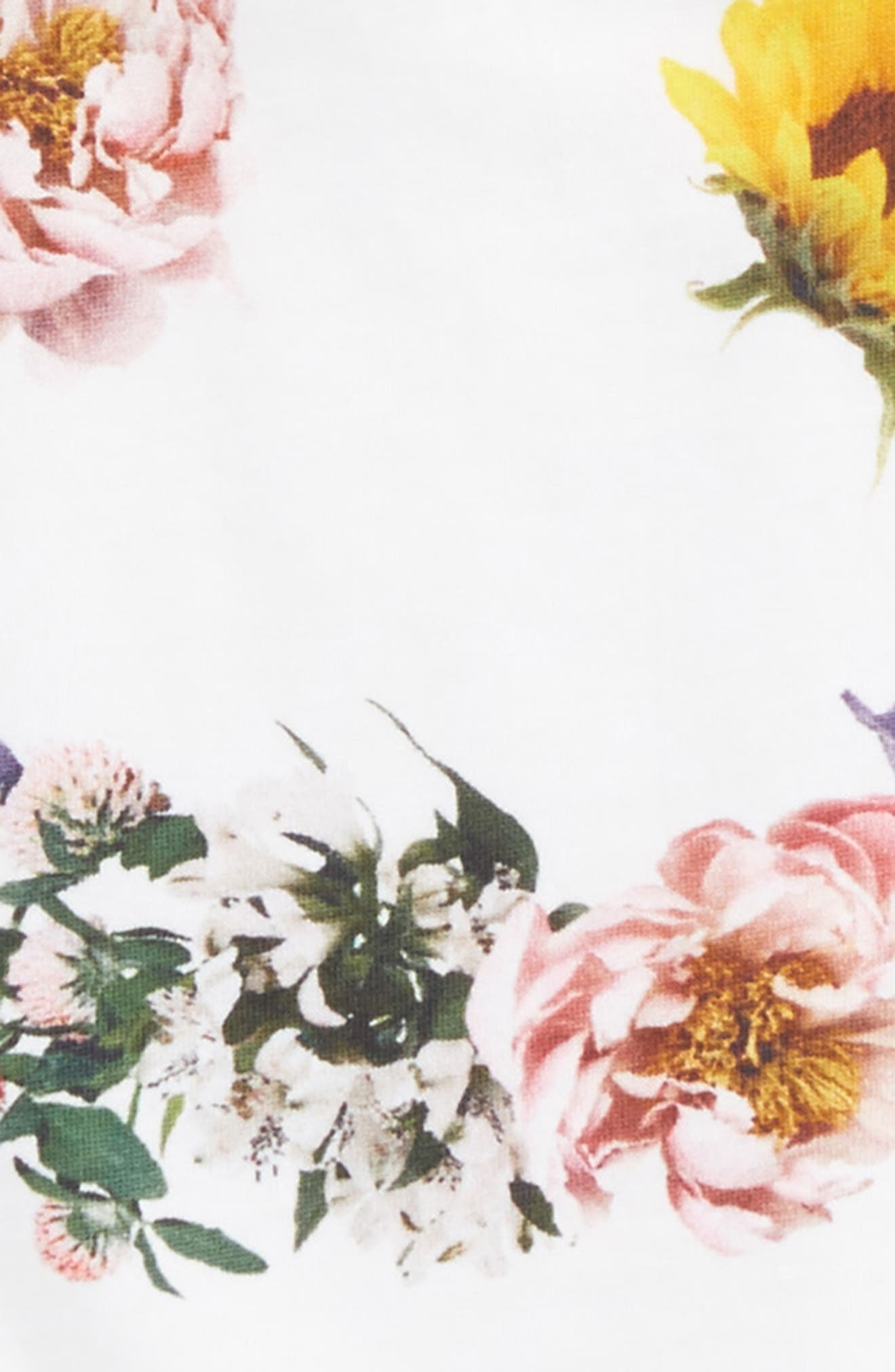 Rachelle Floral Smiley Tee,                             Alternate thumbnail 2, color,                             White