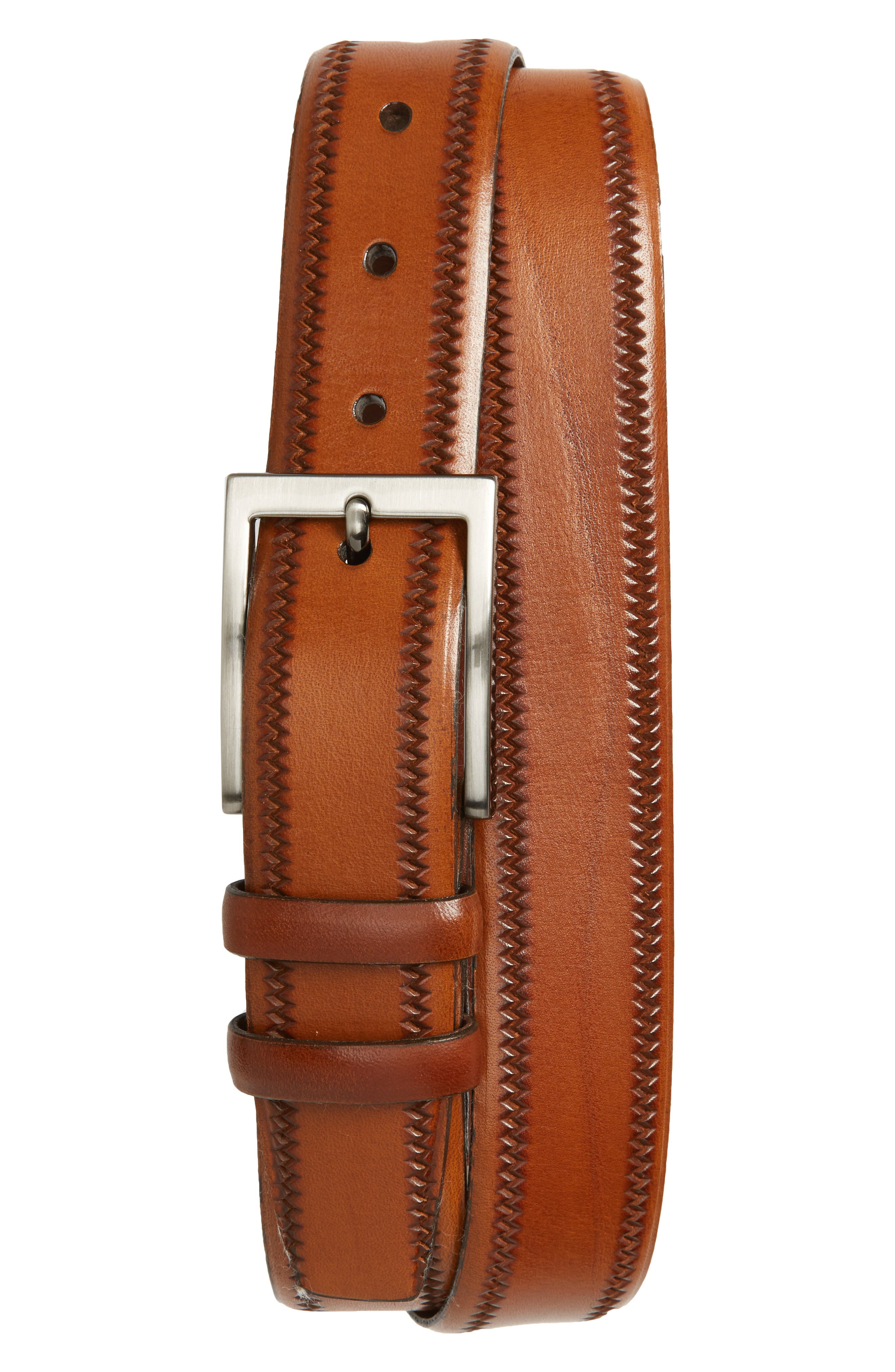 Alternate Image 1 Selected - Torino Belts Embossed Leather Belt