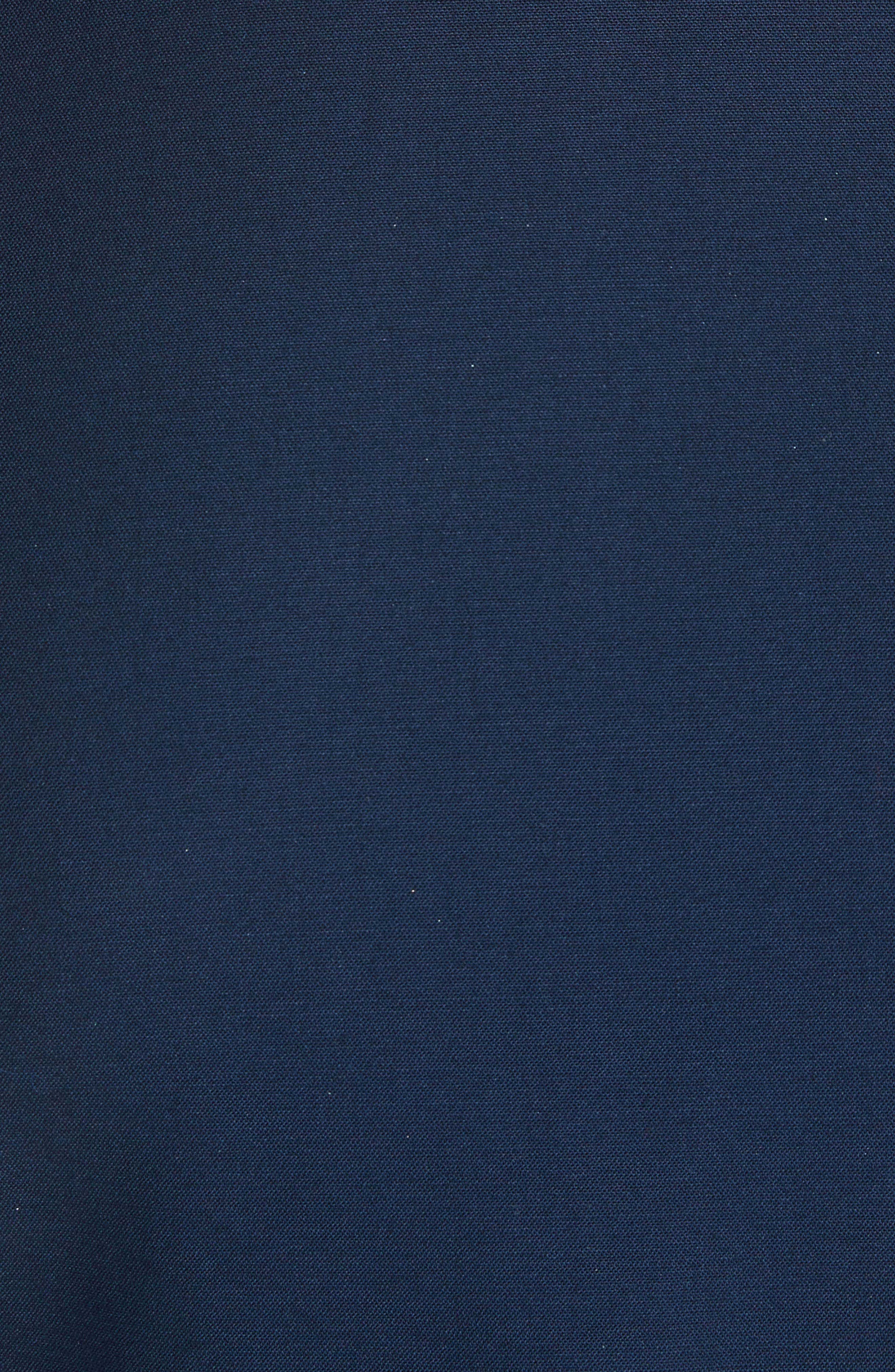 Ruffle Pocket A-Line Dress,                             Alternate thumbnail 5, color,                             Oceano
