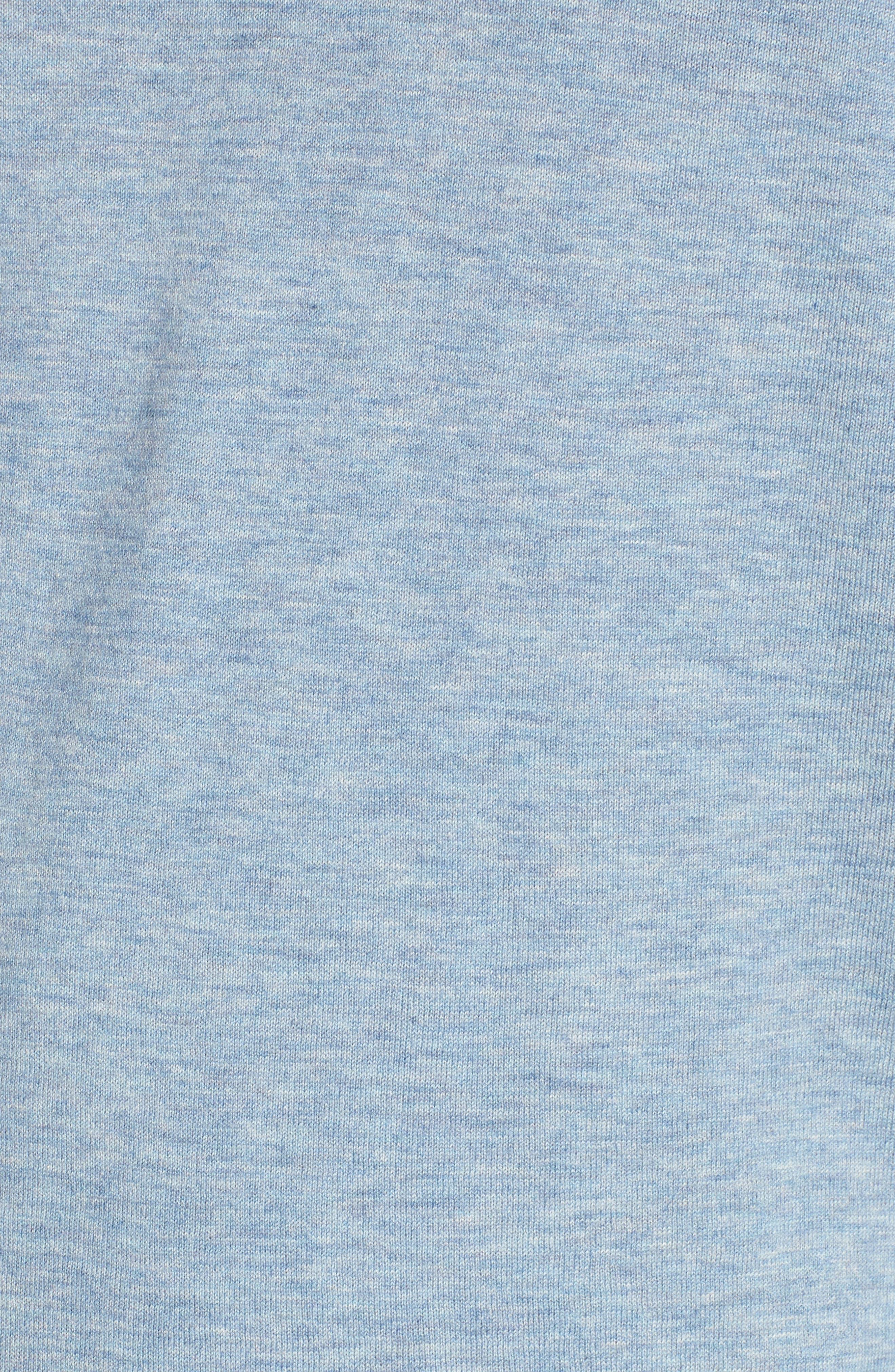 Fine Gauge Crewneck Sweater,                             Alternate thumbnail 5, color,                             Heather Sky Blue
