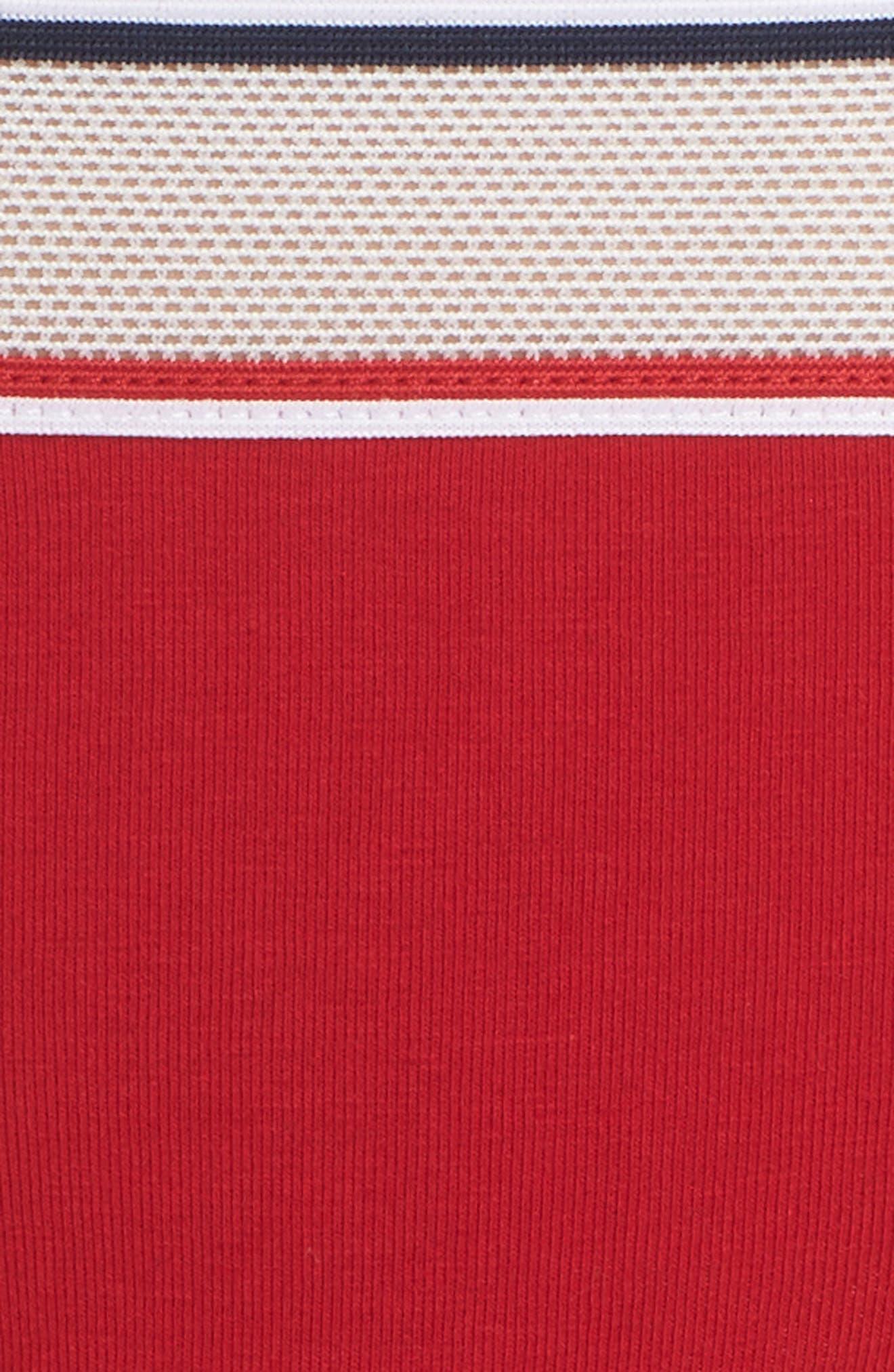 Mesh Band Thong,                             Alternate thumbnail 6, color,                             Apple Red