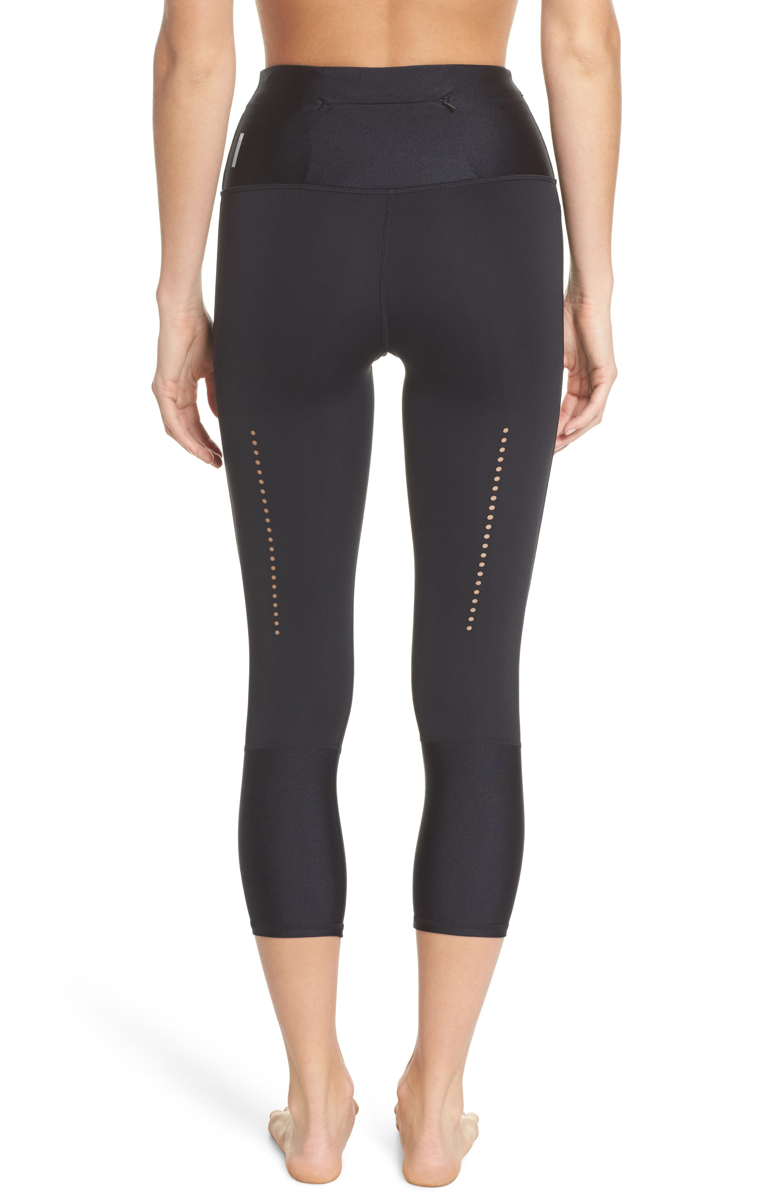 Starry Eyed High-Waist Crop Leggings,                             Alternate thumbnail 2, color,                             Black