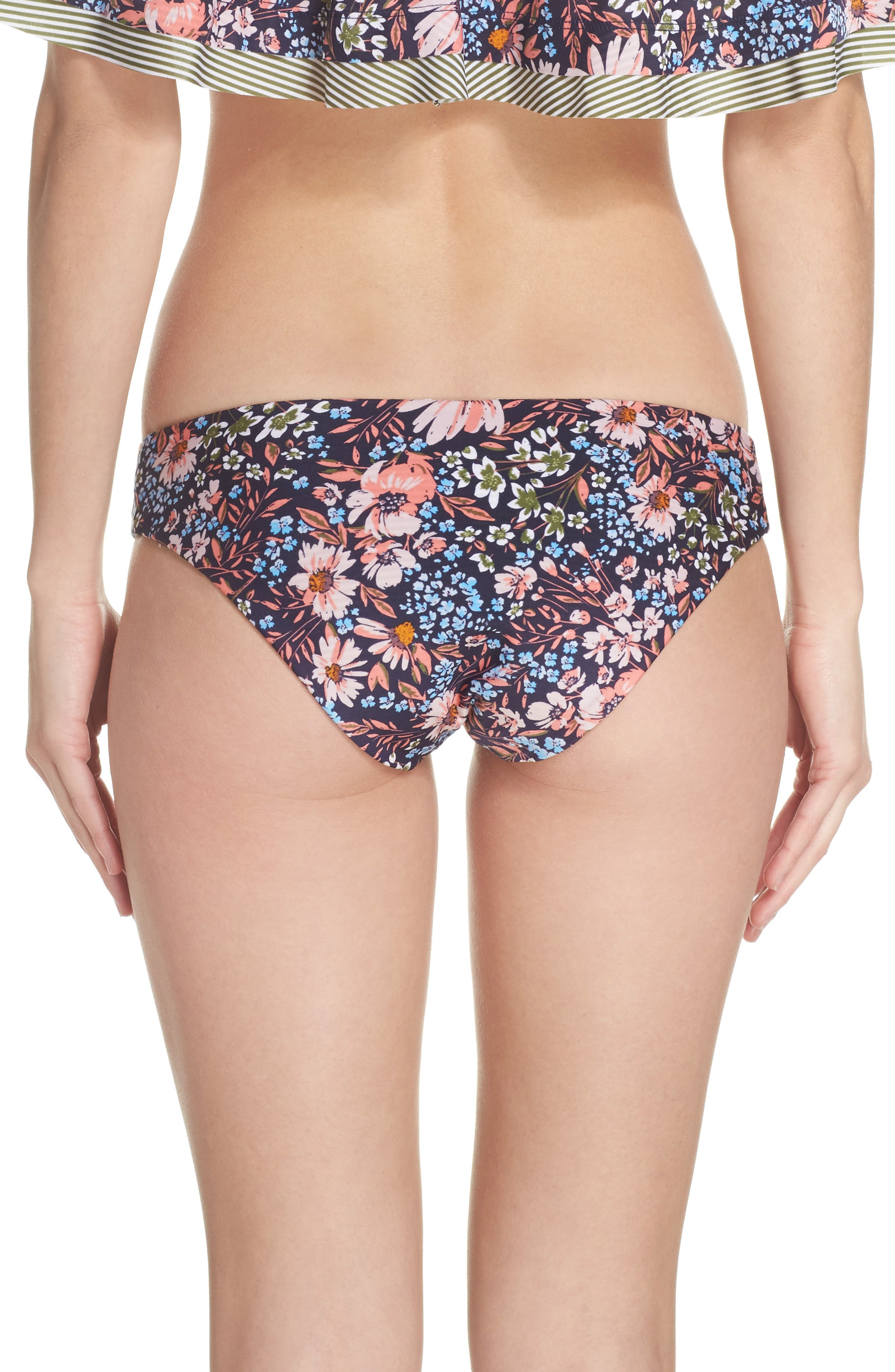 Enchanted Reversible Bikini Bottoms,                             Alternate thumbnail 3, color,                             Olive Multi