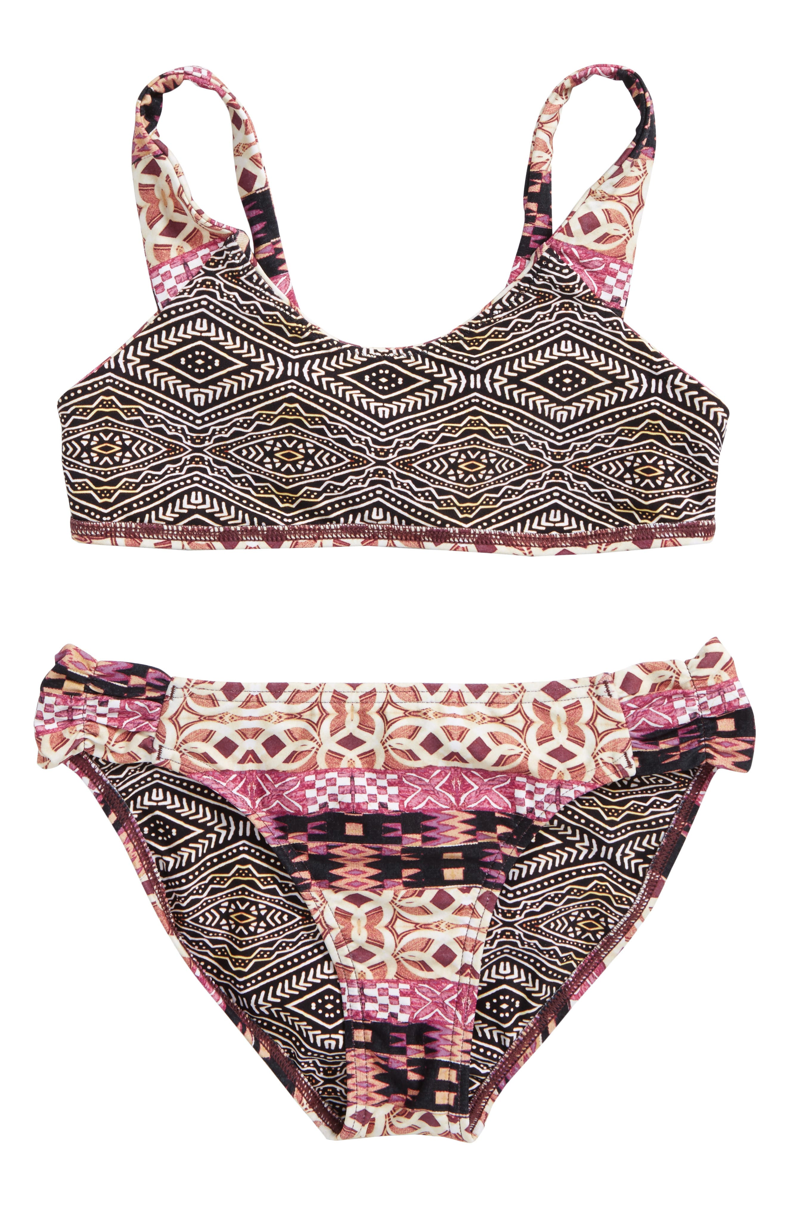 Alternate Image 2  - O'Neill Zanzibar Reversible Two-Piece Swimsuit (Big GIrls)