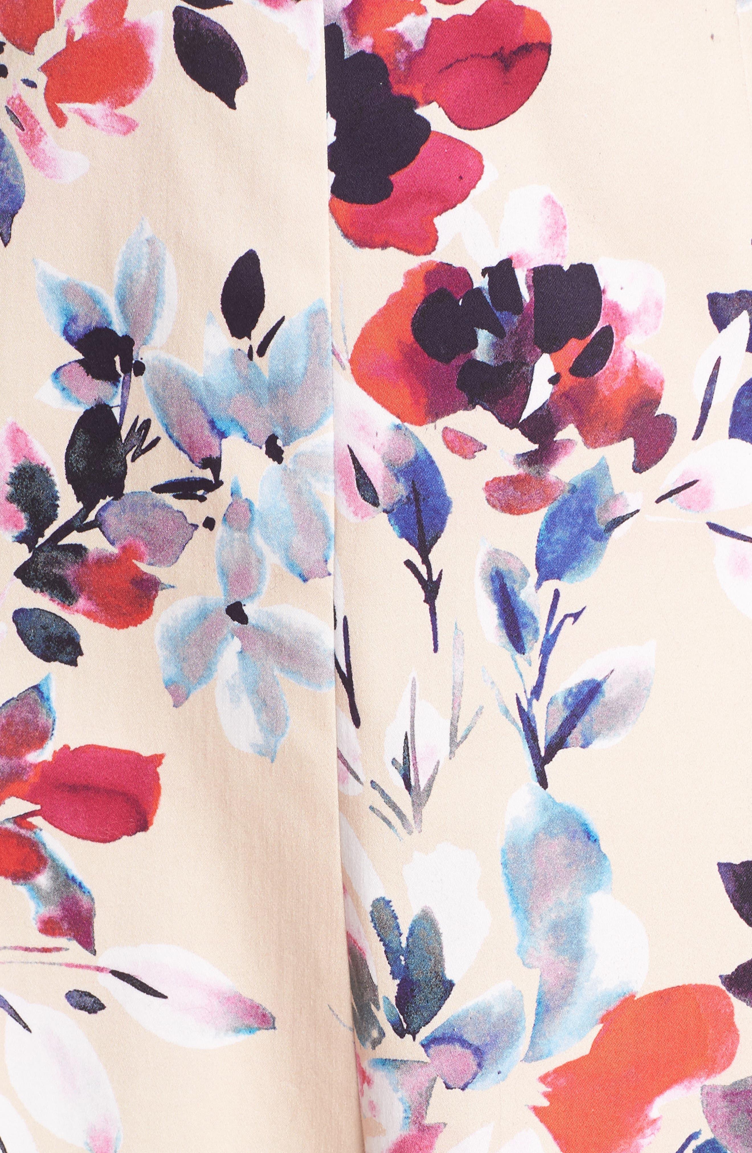 Linosa Fit & Flare Dress,                             Alternate thumbnail 6, color,                             Barley Pink