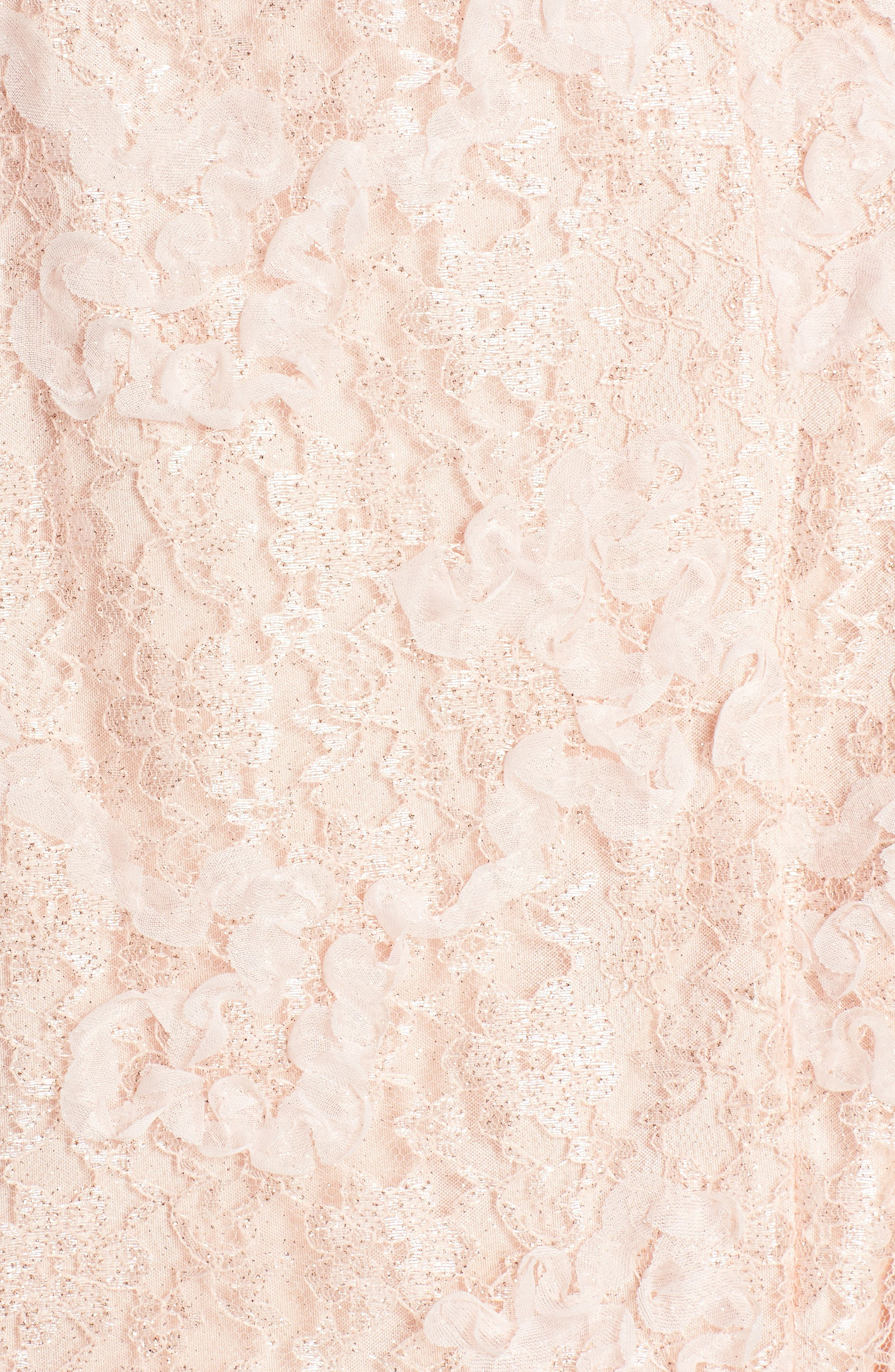 Ruched Lace Halter Mermaid Gown,                             Alternate thumbnail 5, color,                             Blush