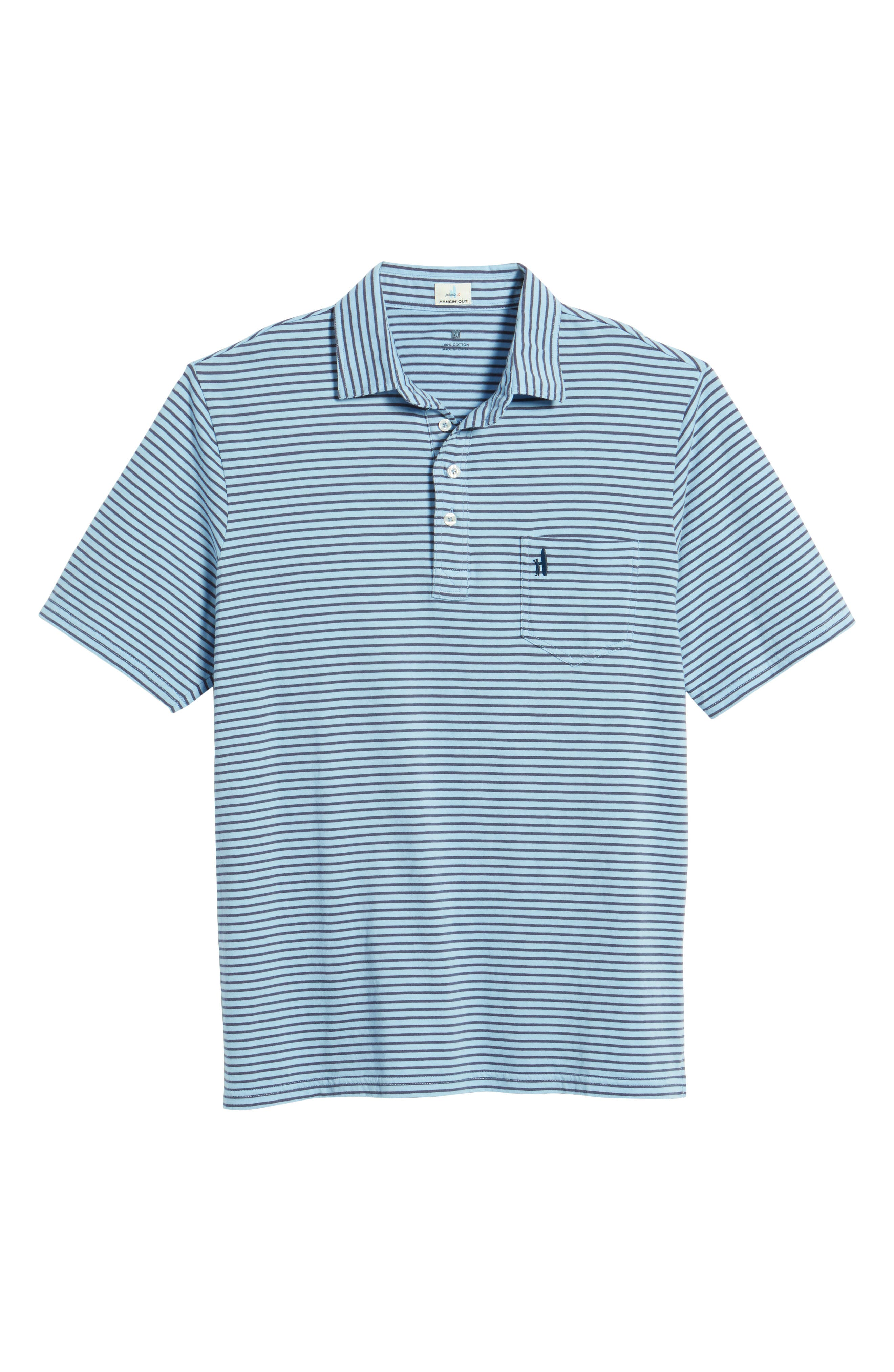 Macon Regular Fit Stripe Polo,                             Alternate thumbnail 6, color,                             Vista