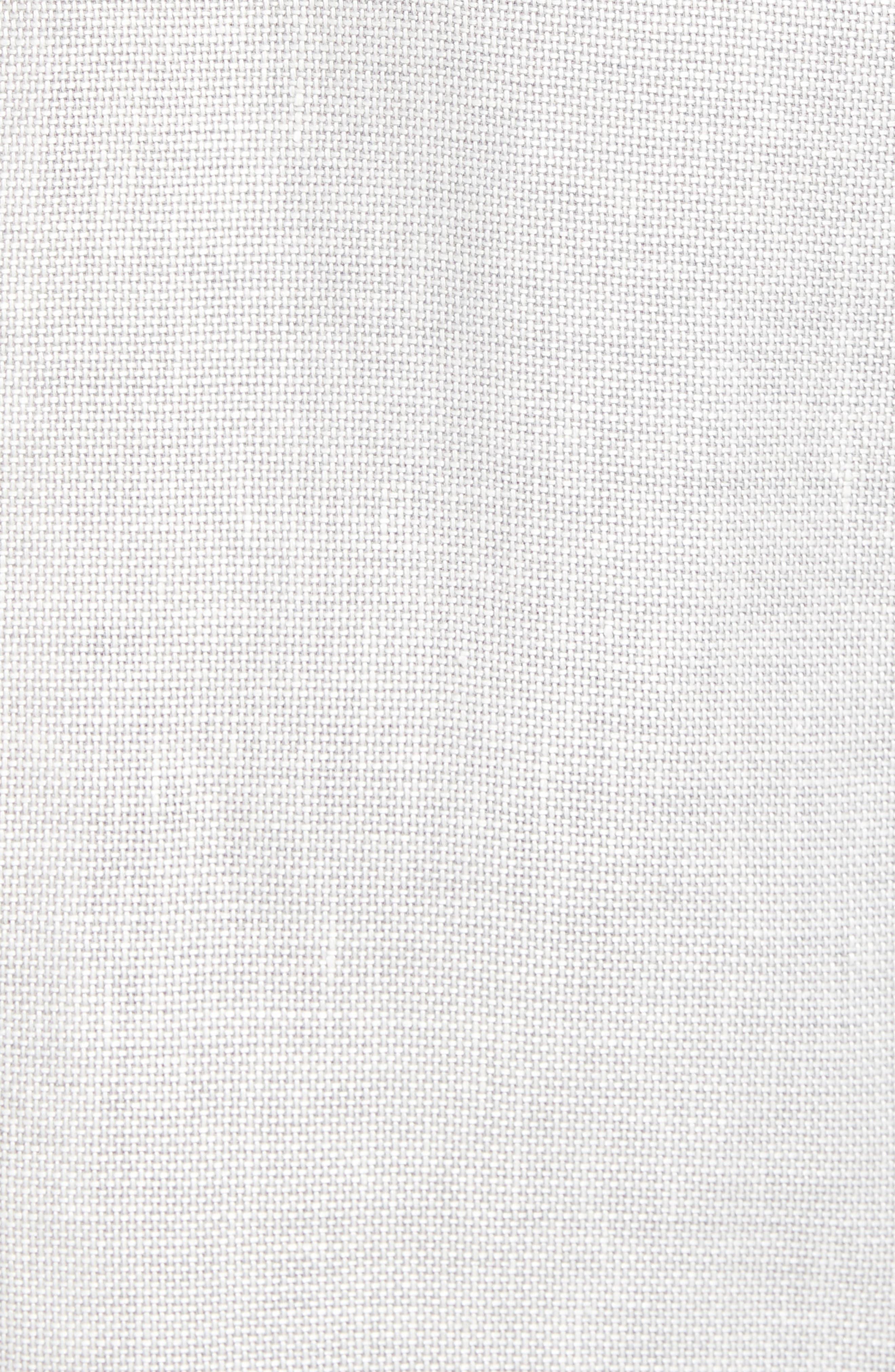 Hartlay Trim Fit Linen Blend Blazer,                             Alternate thumbnail 5, color,                             Silver Grey
