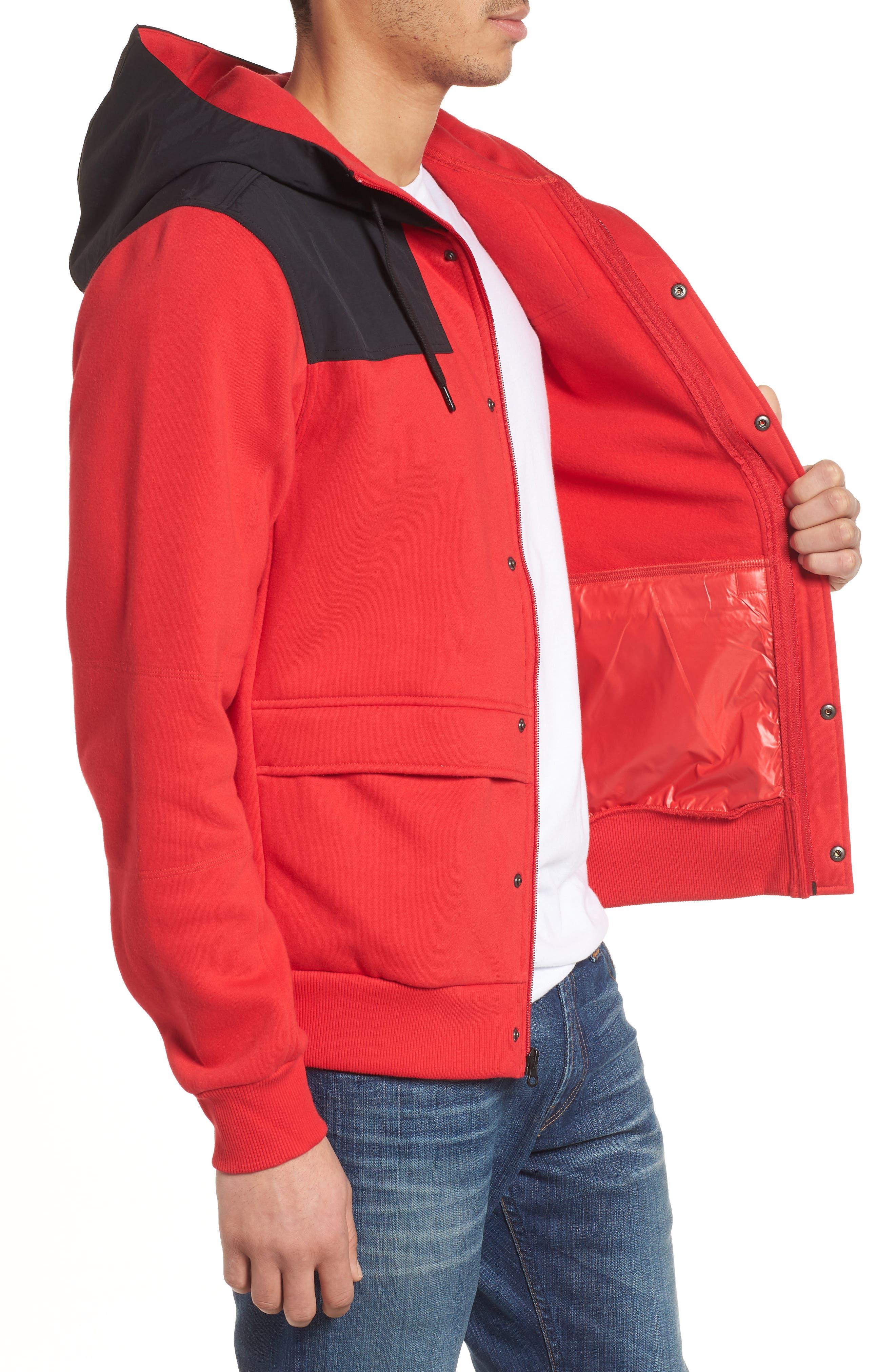 Rivington II Hooded Jacket,                             Alternate thumbnail 3, color,                             Red