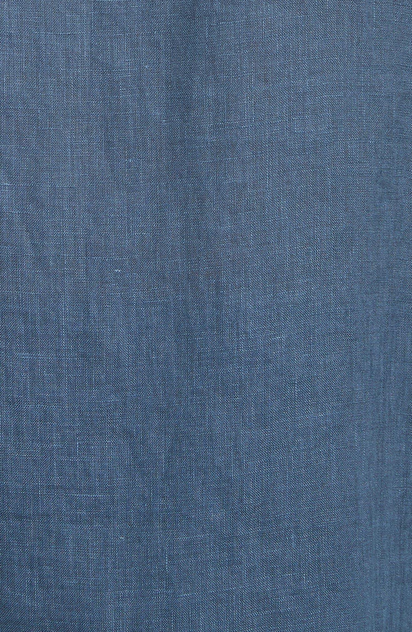 Collection Garment Dyed Linen Shirt,                             Alternate thumbnail 5, color,                             Lake Blue