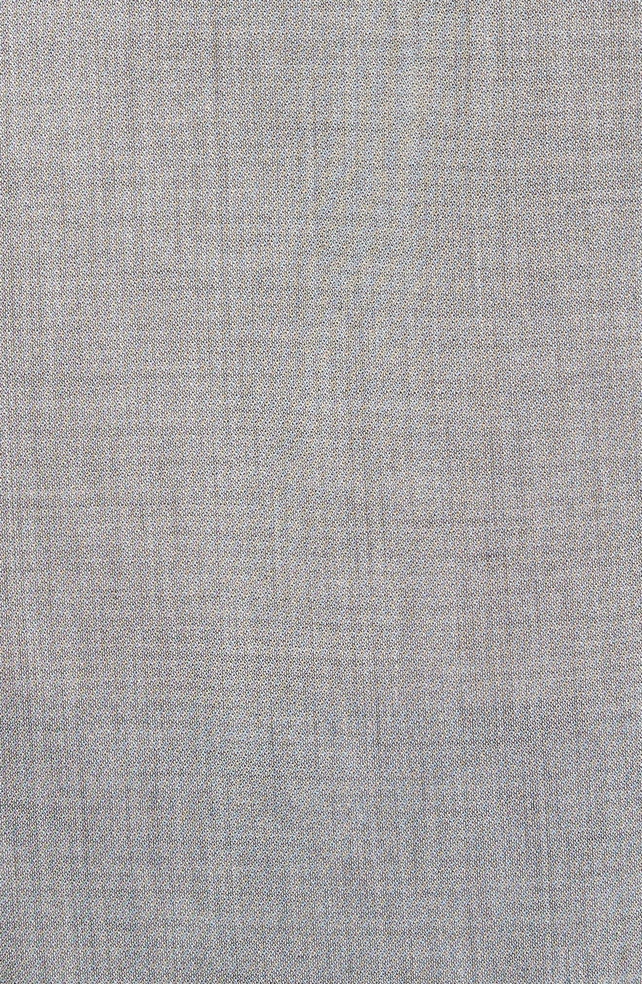 Slim Fit Roller Long Sleeve Shirt,                             Alternate thumbnail 5, color,                             Grey Hthr