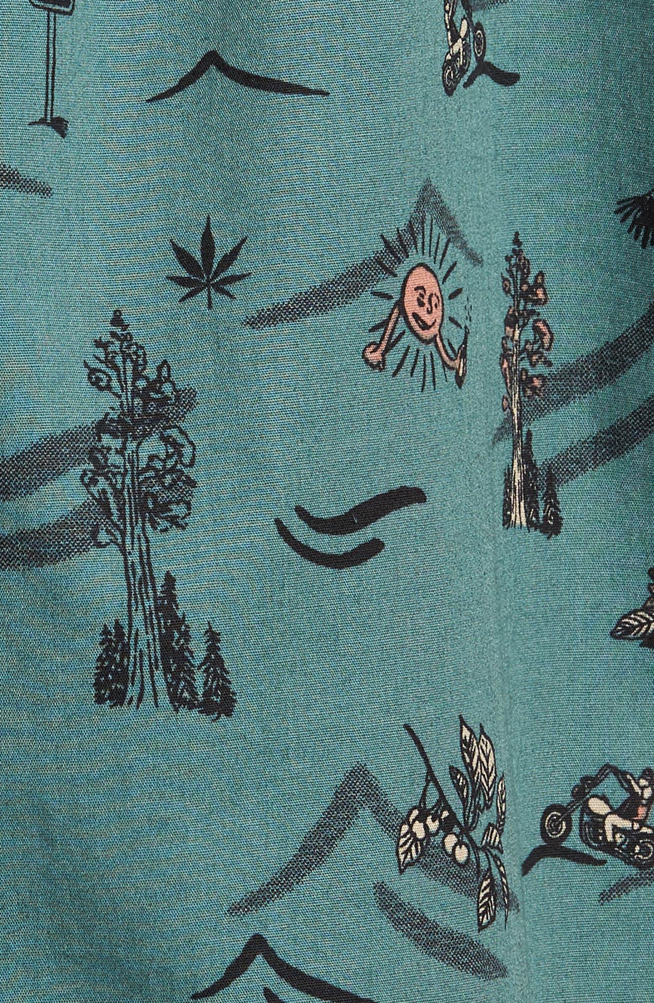 Squawk Short Sleeve Shirt,                             Alternate thumbnail 5, color,                             Pine