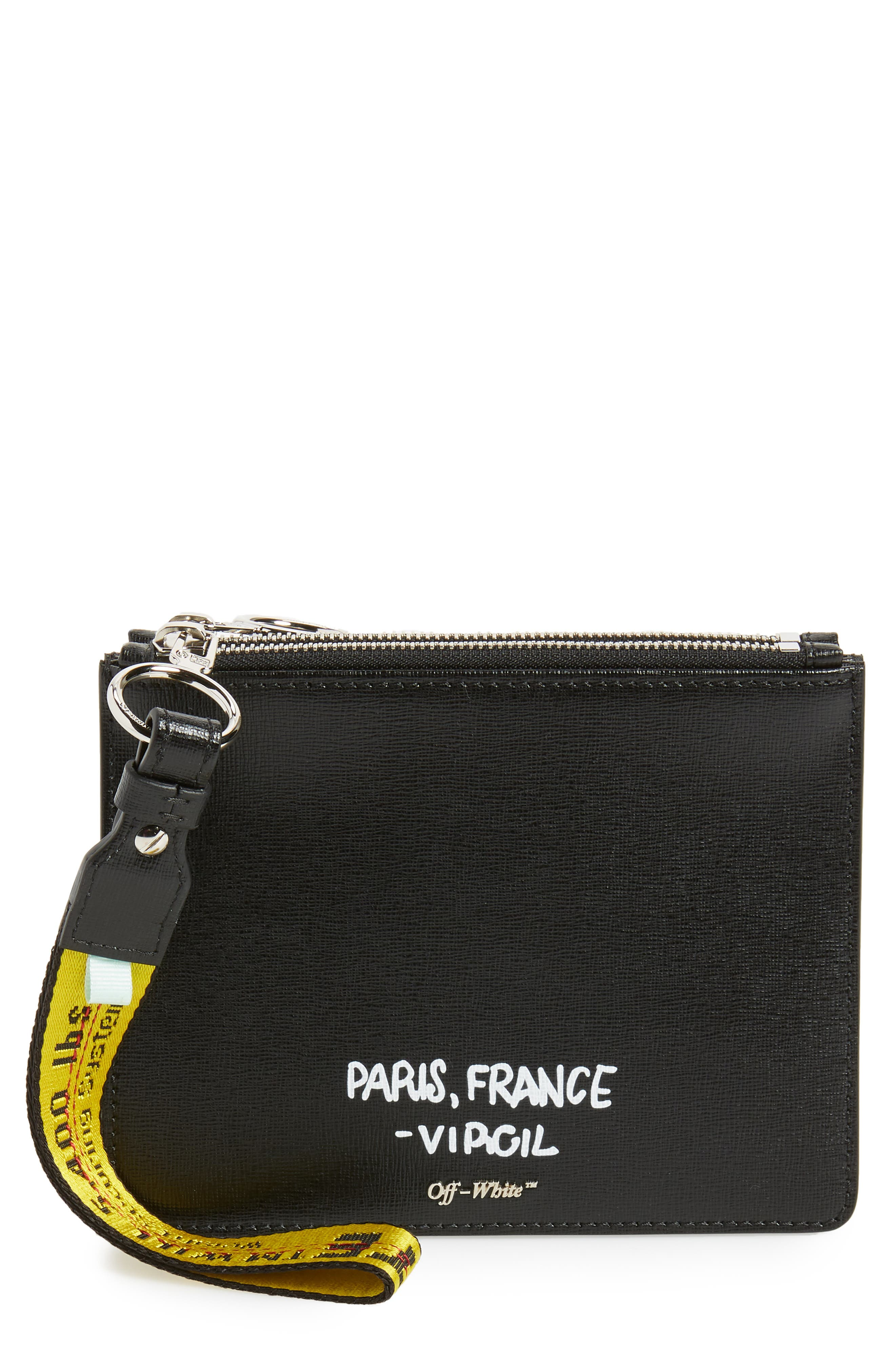 Off-White Virgil Was Here Set of 2 Zip Pouches