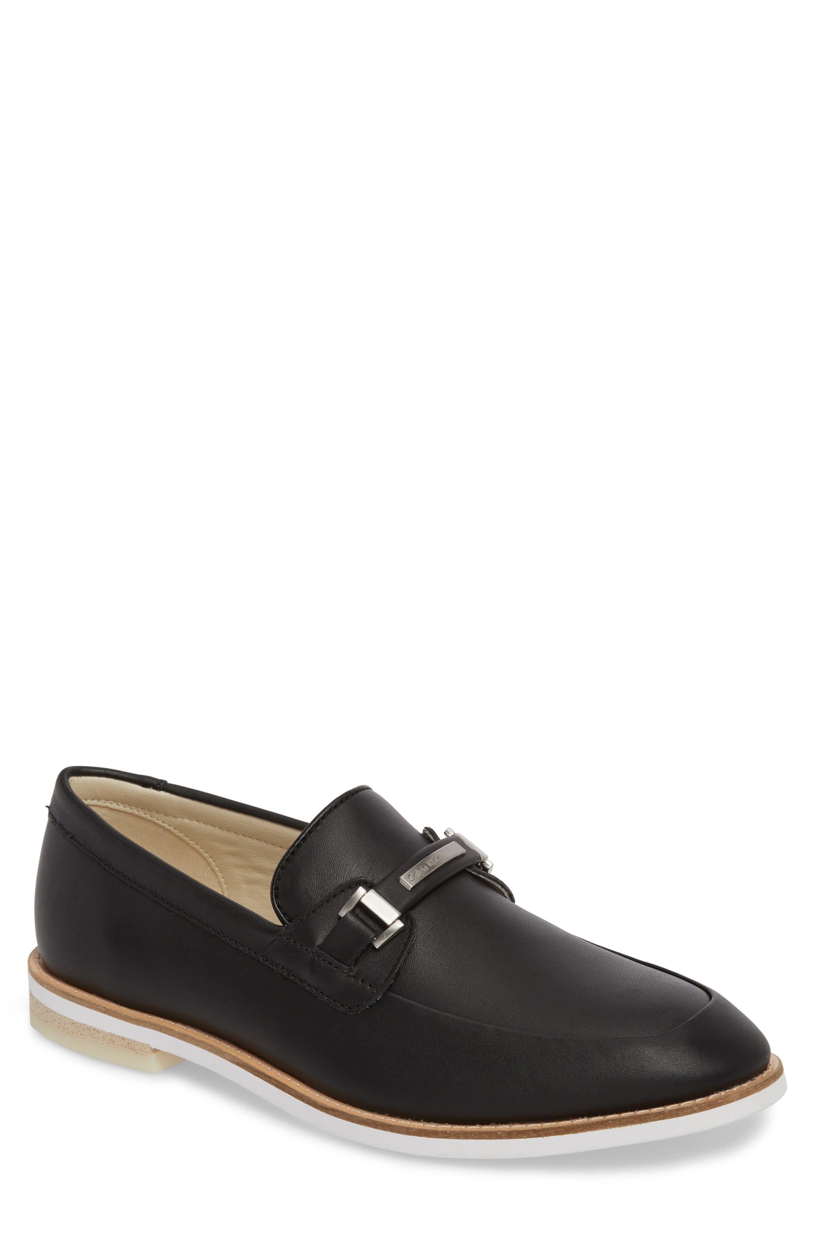 Adler Bit Loafer,                         Main,                         color, Black Leather