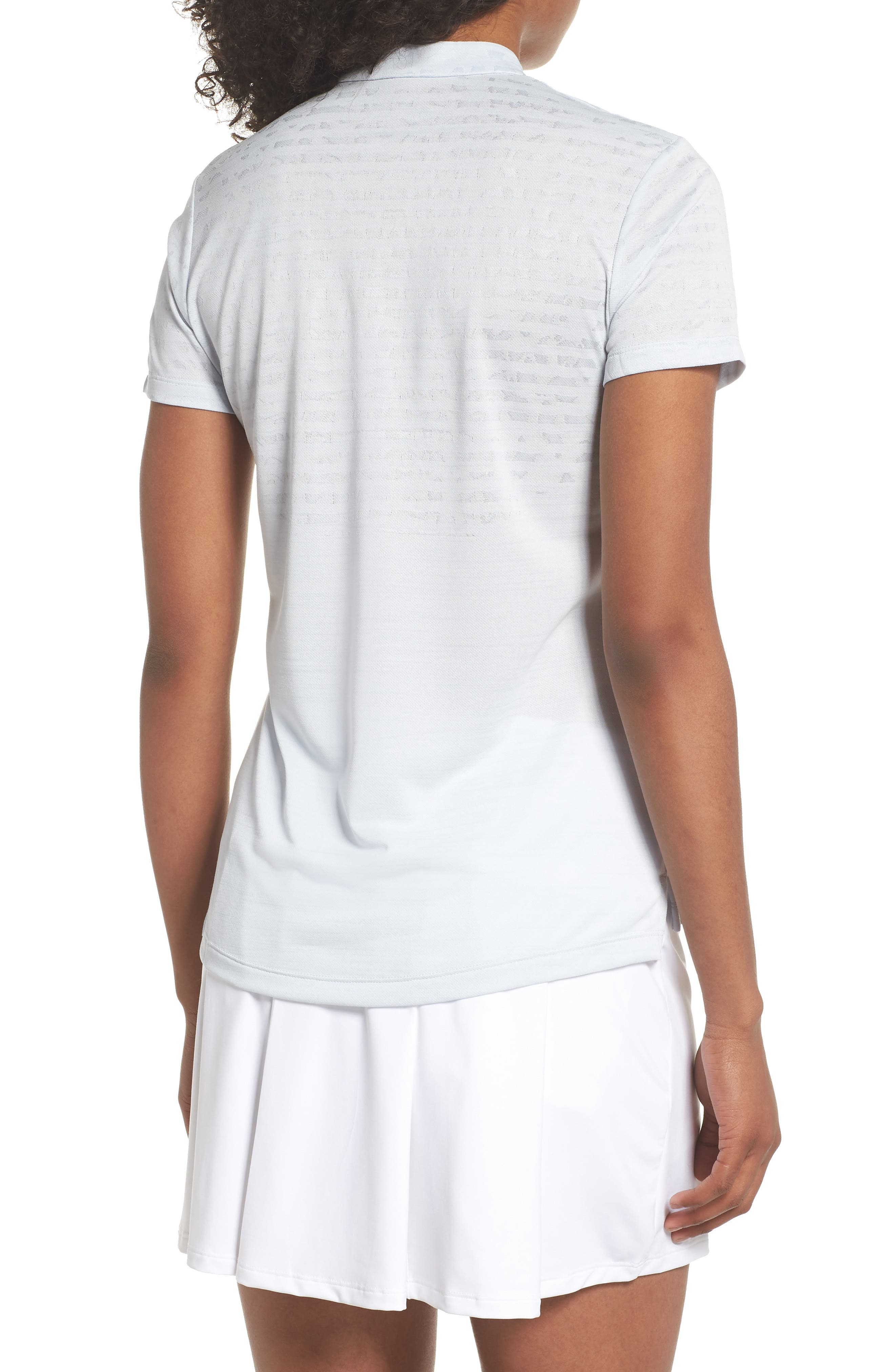 Zonal Cooling Golf Polo,                             Alternate thumbnail 2, color,                             Pure Platinum/ Silver