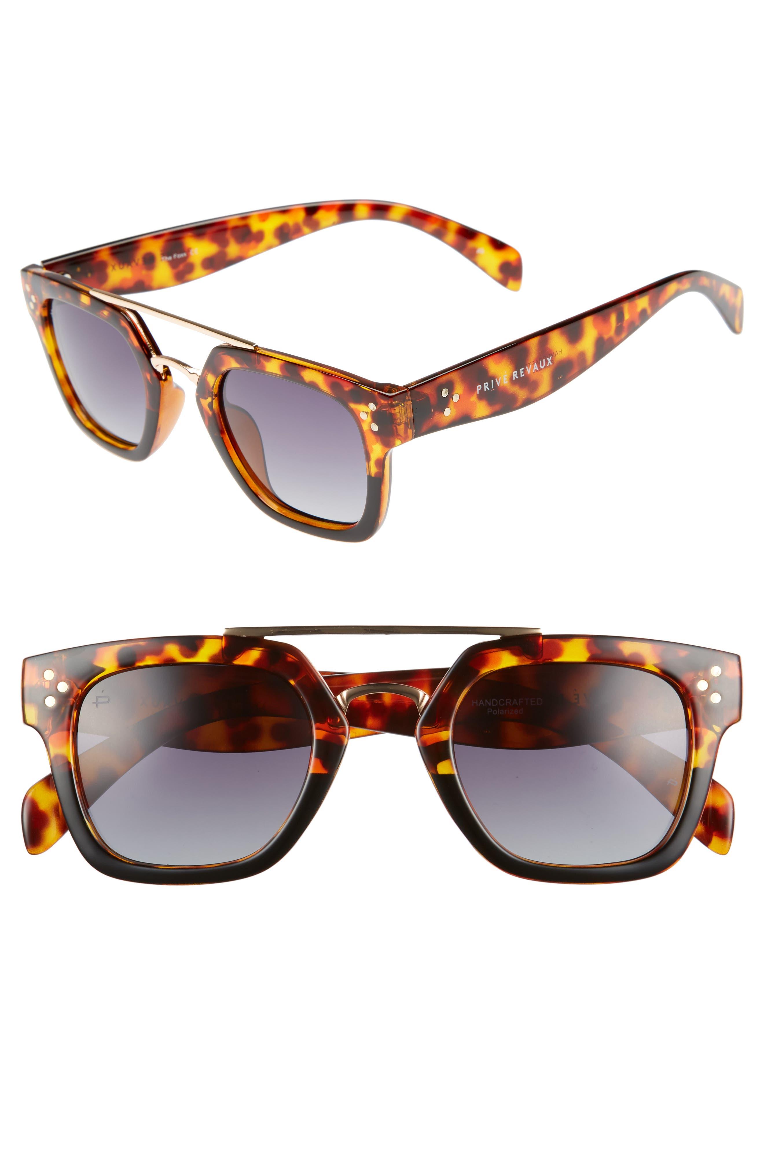 Alternate Image 1 Selected - Privé Revaux The Foxx 49mm Aviator Sunglasses