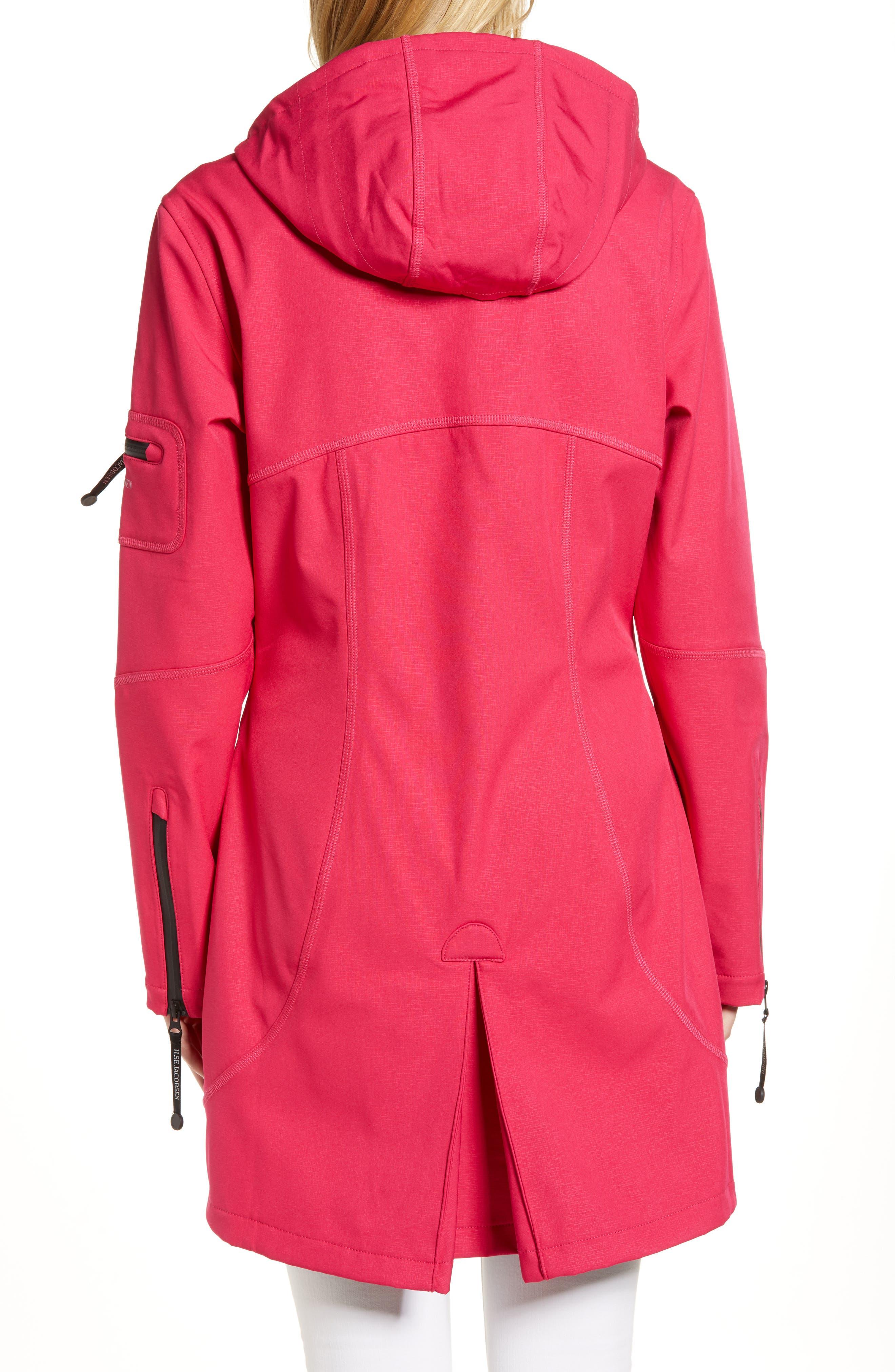 Rain 7 Hooded Water Resistant Coat,                             Alternate thumbnail 2, color,                             Warm Pink