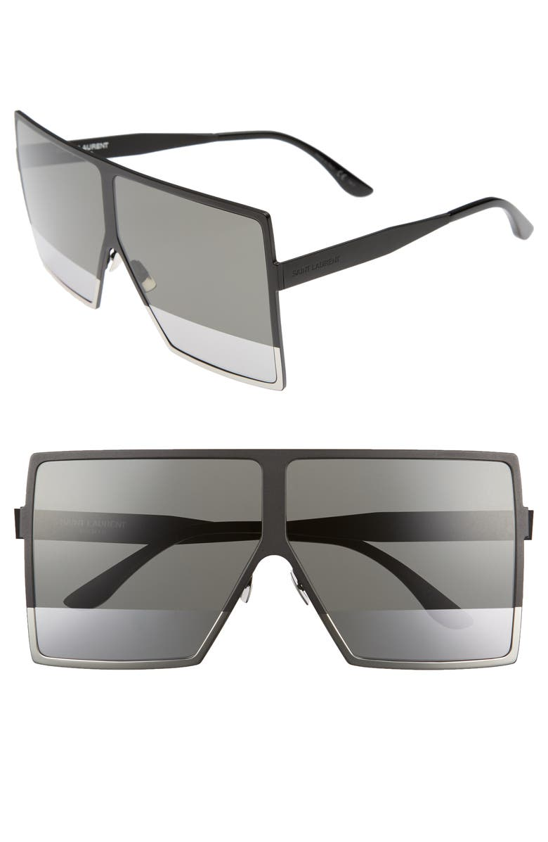 428781f1eb2 Saint Laurent Women S Sl 182 Betty Oversized Semi-Matte Square Shield  Sunglasses