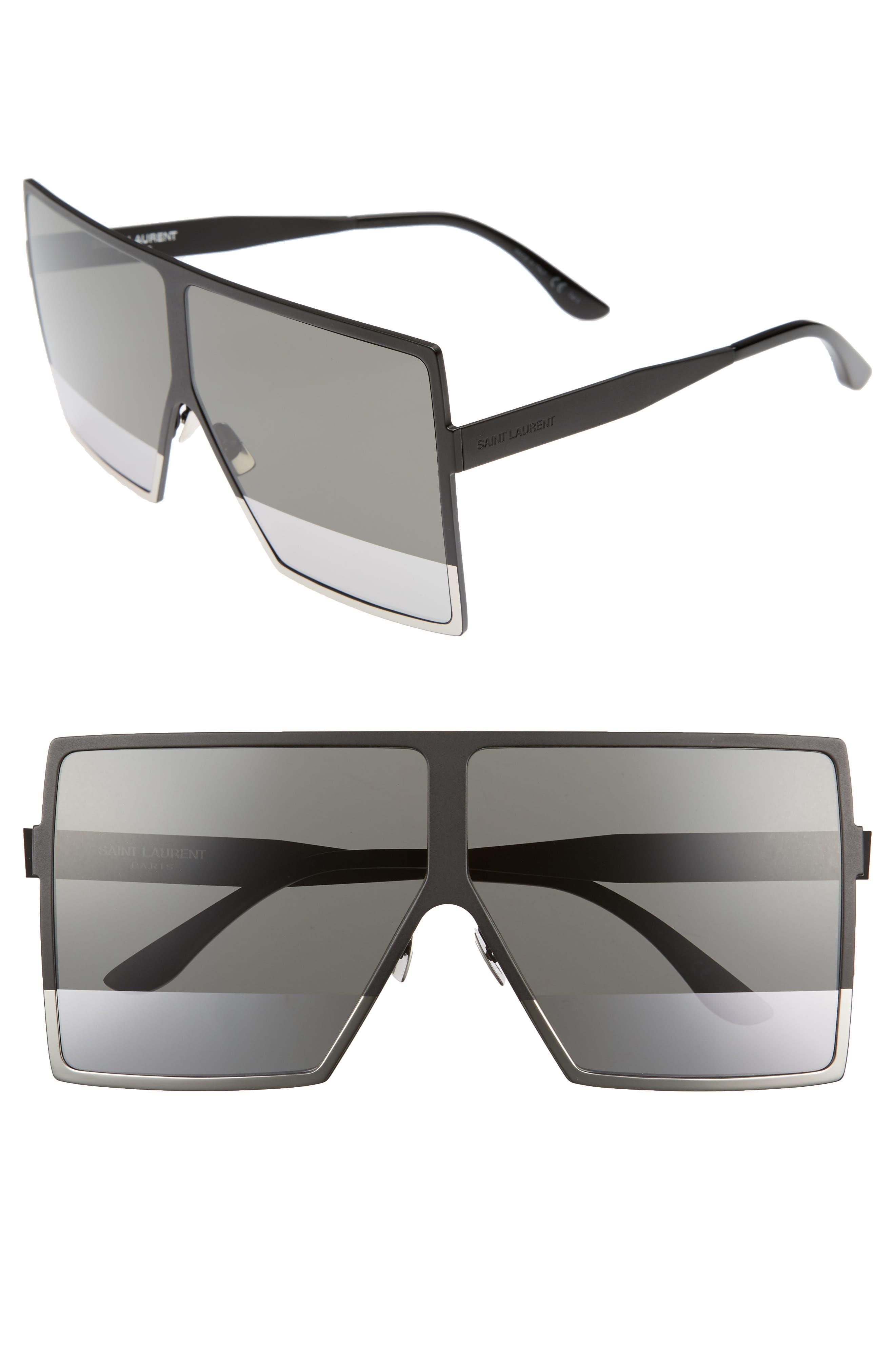 Saint Laurent Betty 68mm Metal Shield Sunglasses