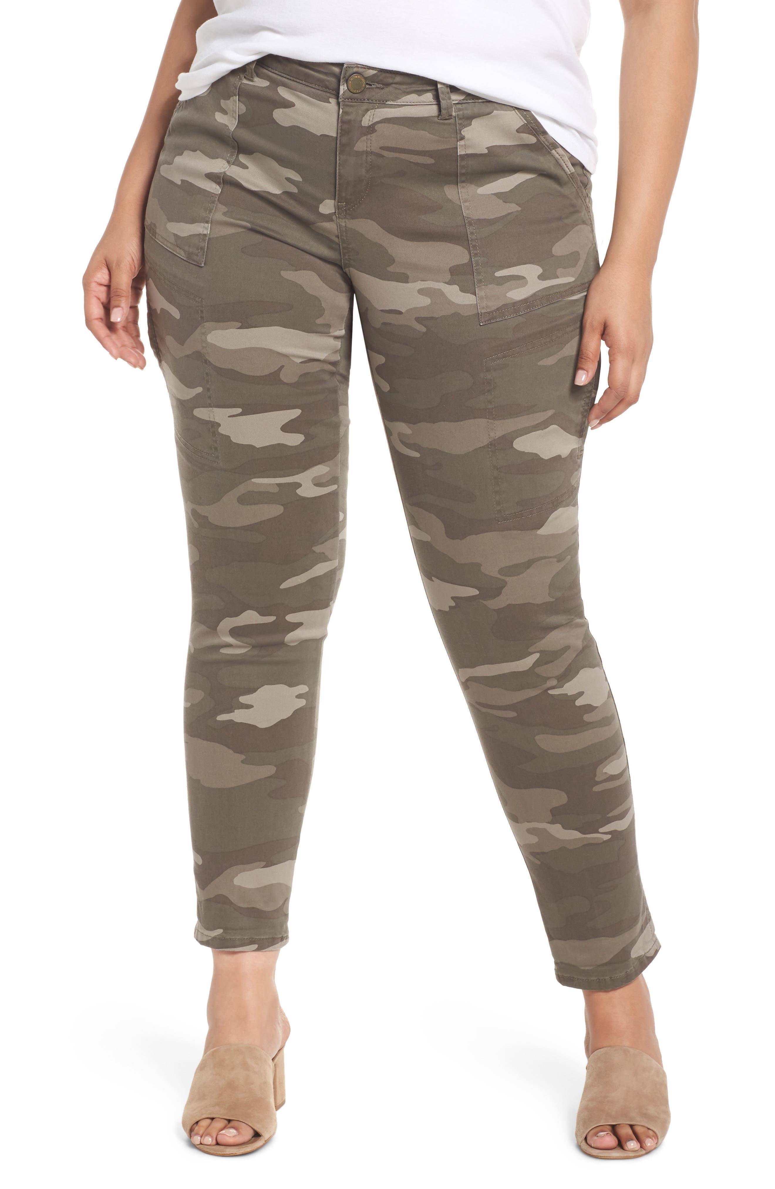 Wit & Wisdom Flex-ellent Camo Cargo Pants (Plus Size)