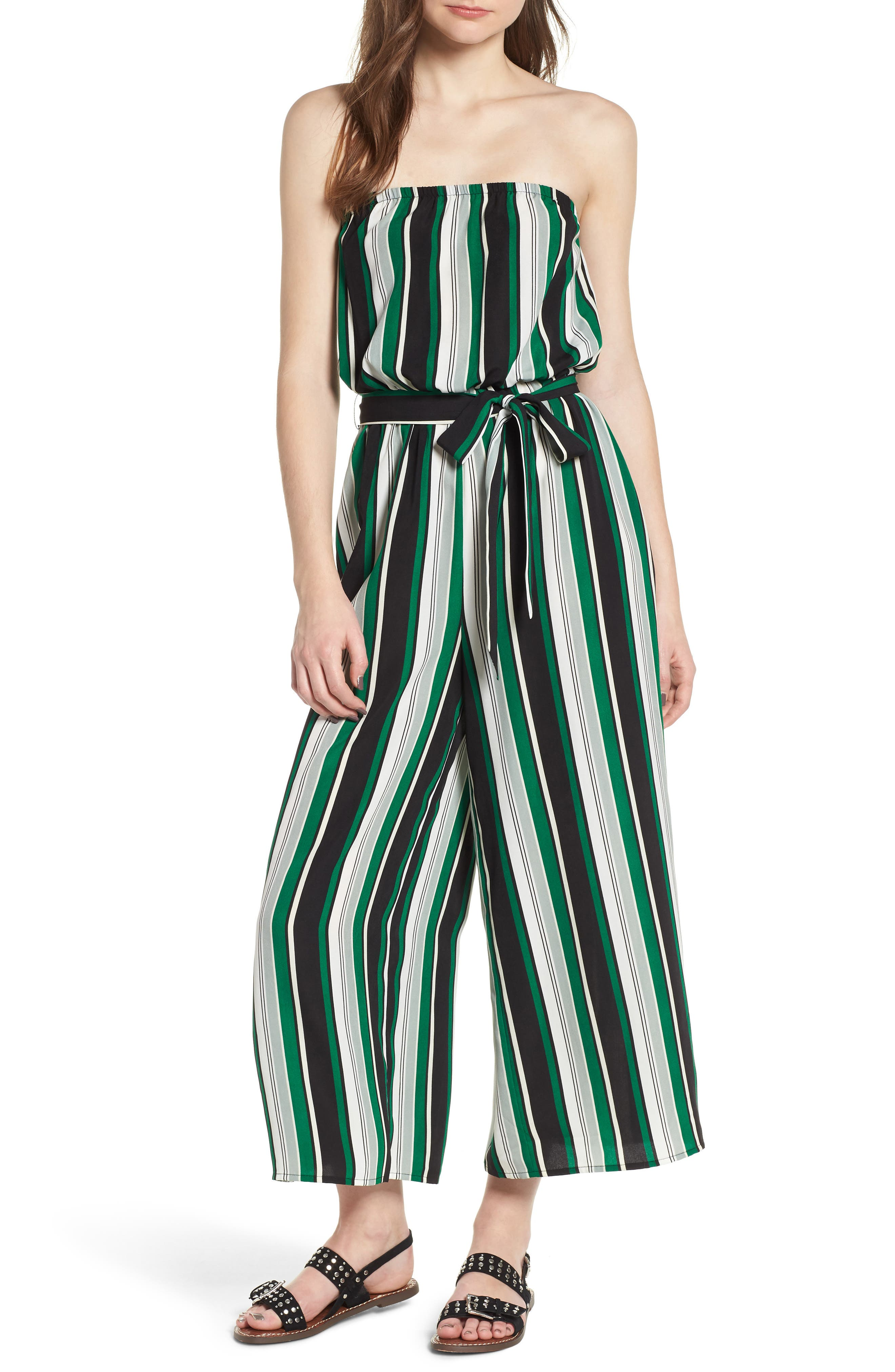 Alternate Image 1 Selected - Soprano Strapless Jumpsuit