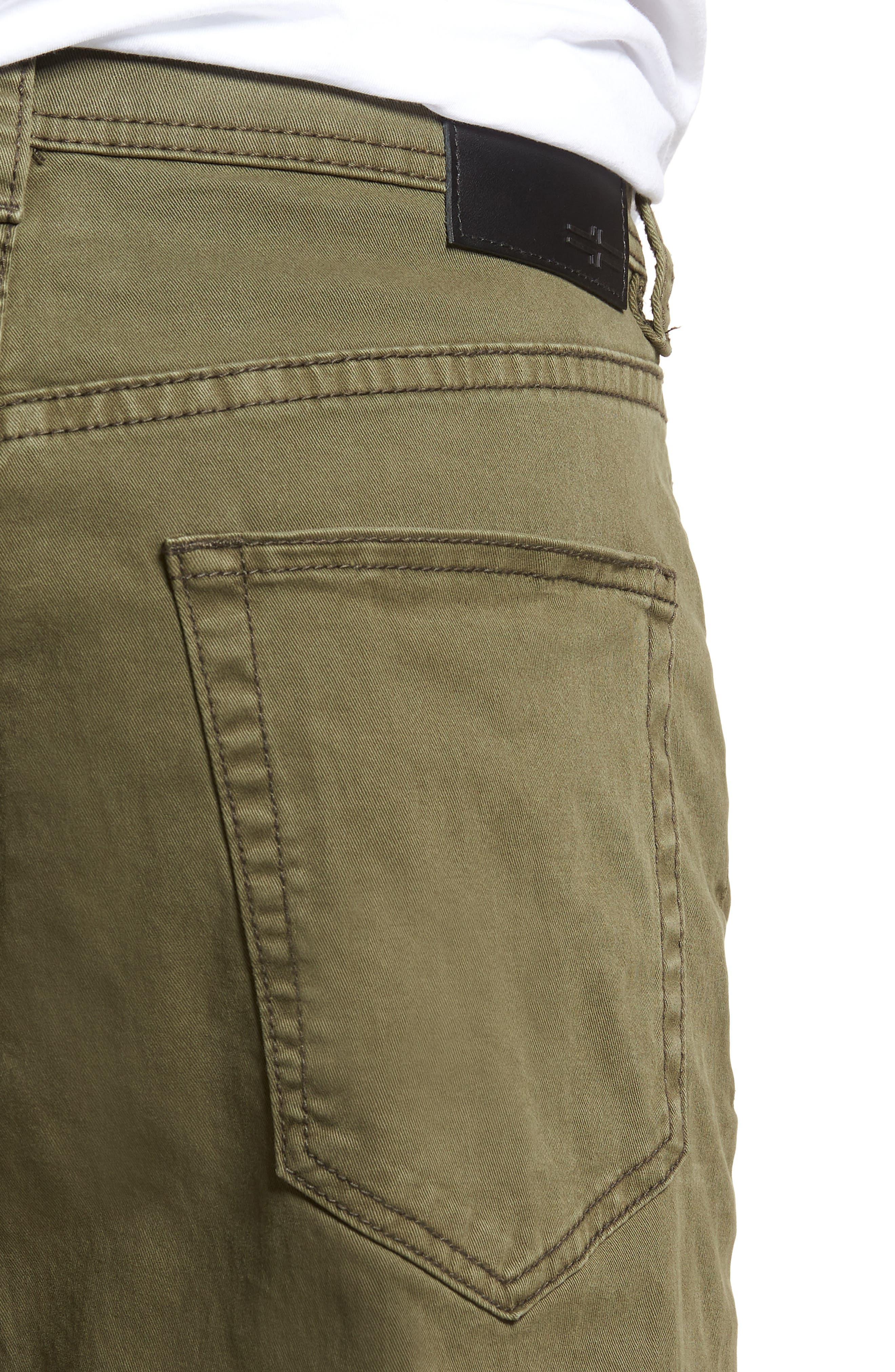 Jeans Co. Kingston Slim Straight Leg Jeans,                             Alternate thumbnail 4, color,                             Olive Night