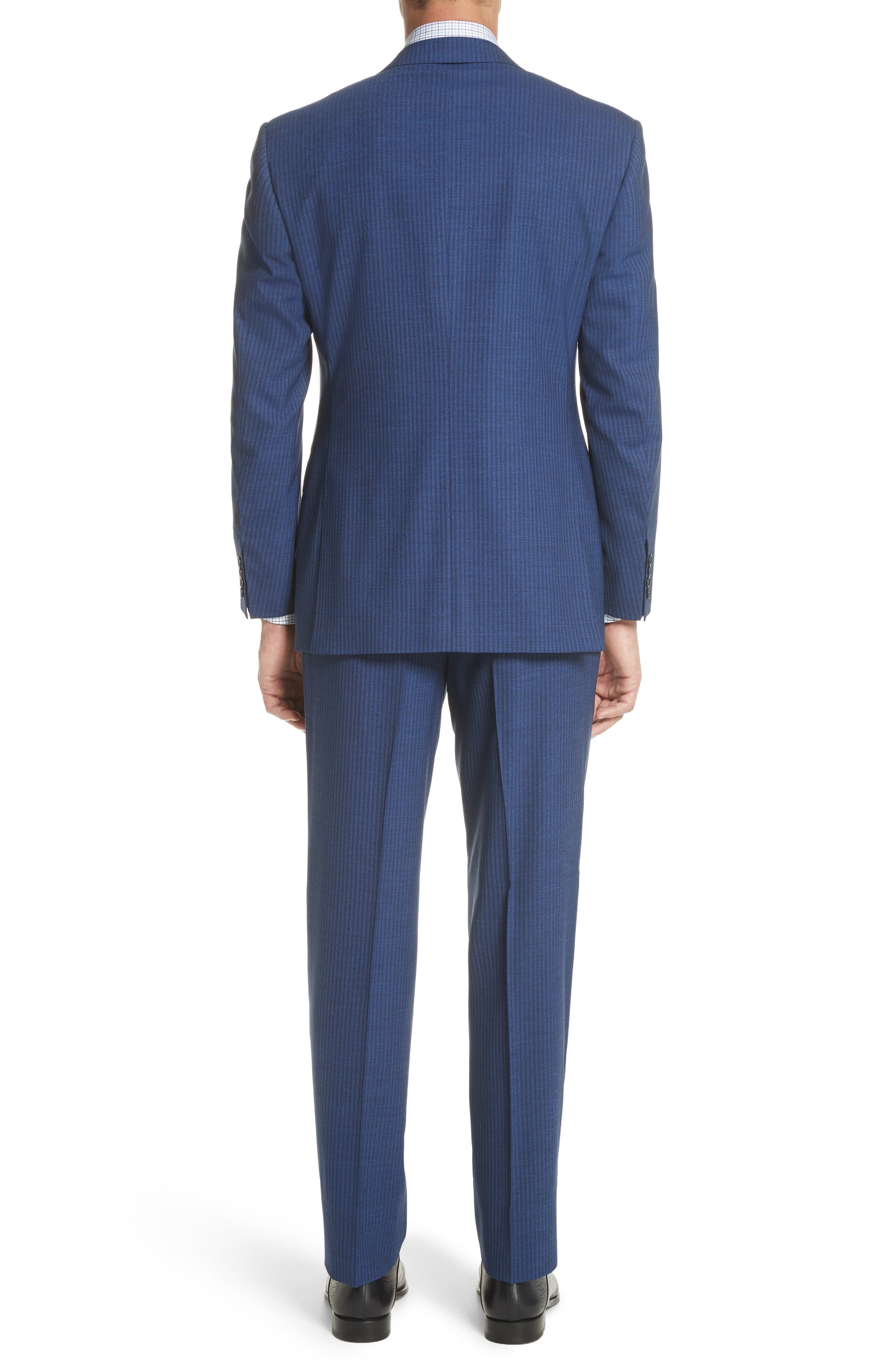 Classic Fit Shadow Stripe Wool Suit,                             Alternate thumbnail 2, color,                             Navy
