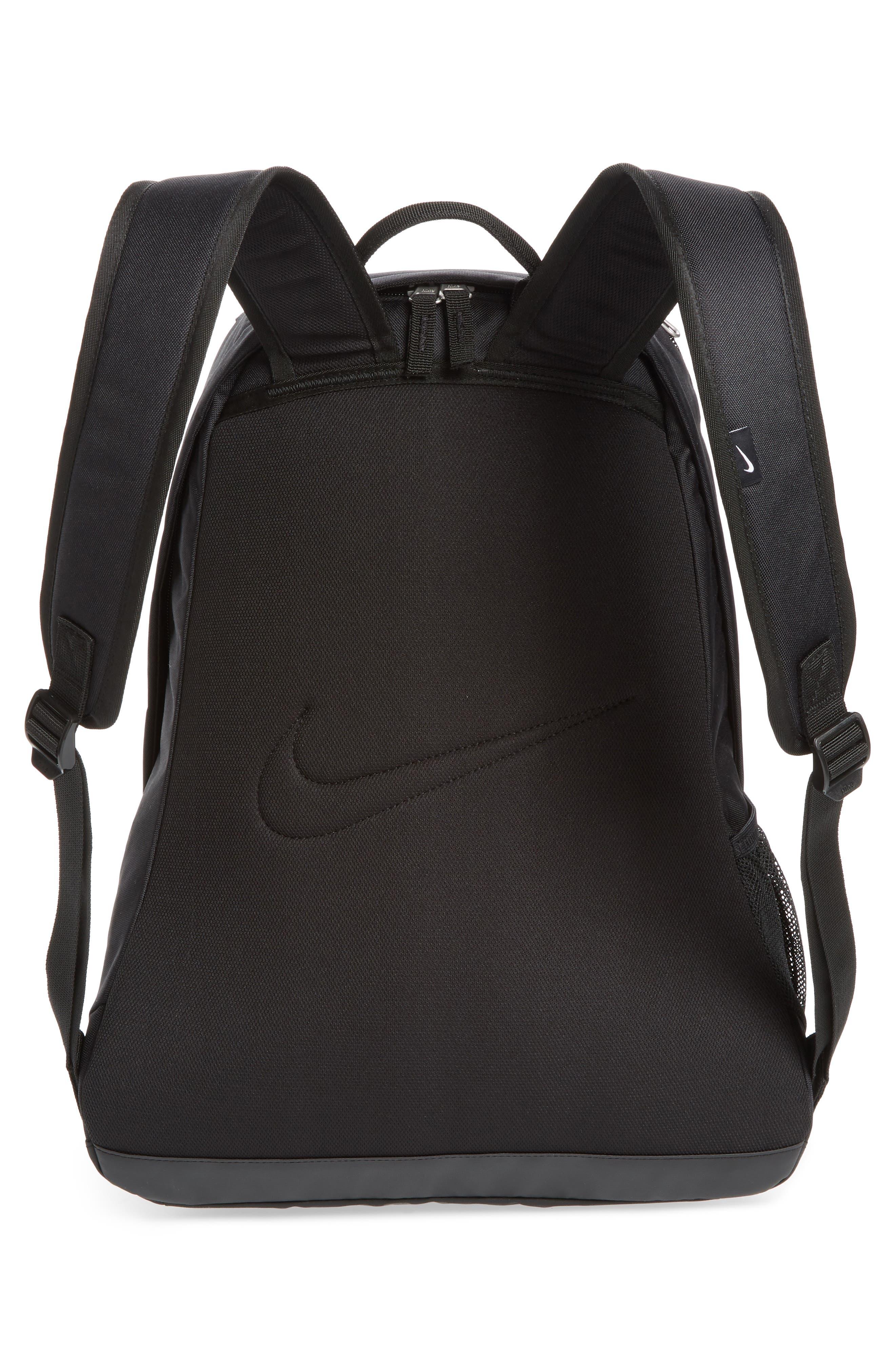 Club Team Backpack,                             Alternate thumbnail 3, color,                             Black/ Black/ White