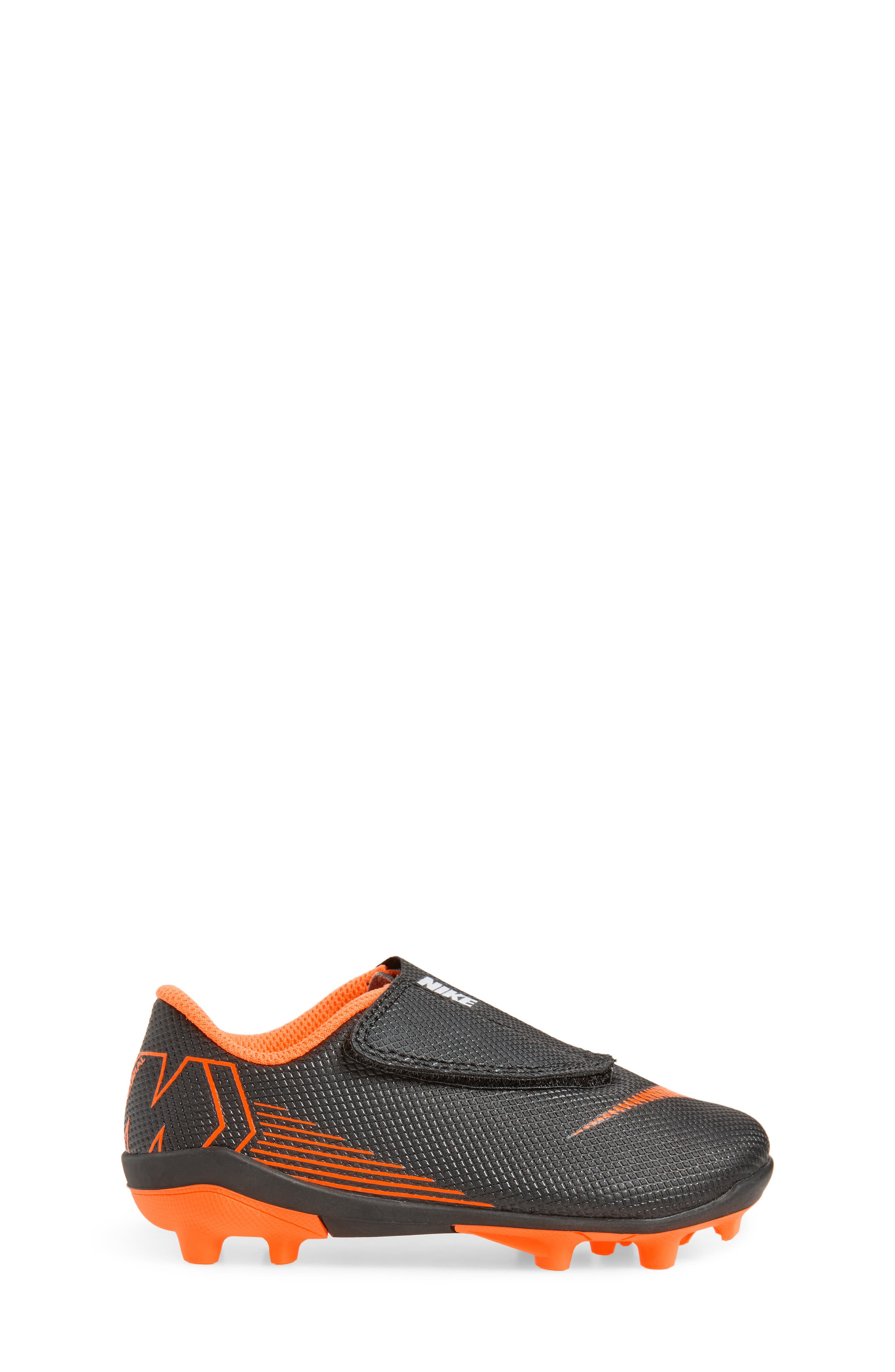 Tiempo Legend 7 Club Firm Ground Soccer Cleat,                             Alternate thumbnail 3, color,                             Black/ Total Orange/ White