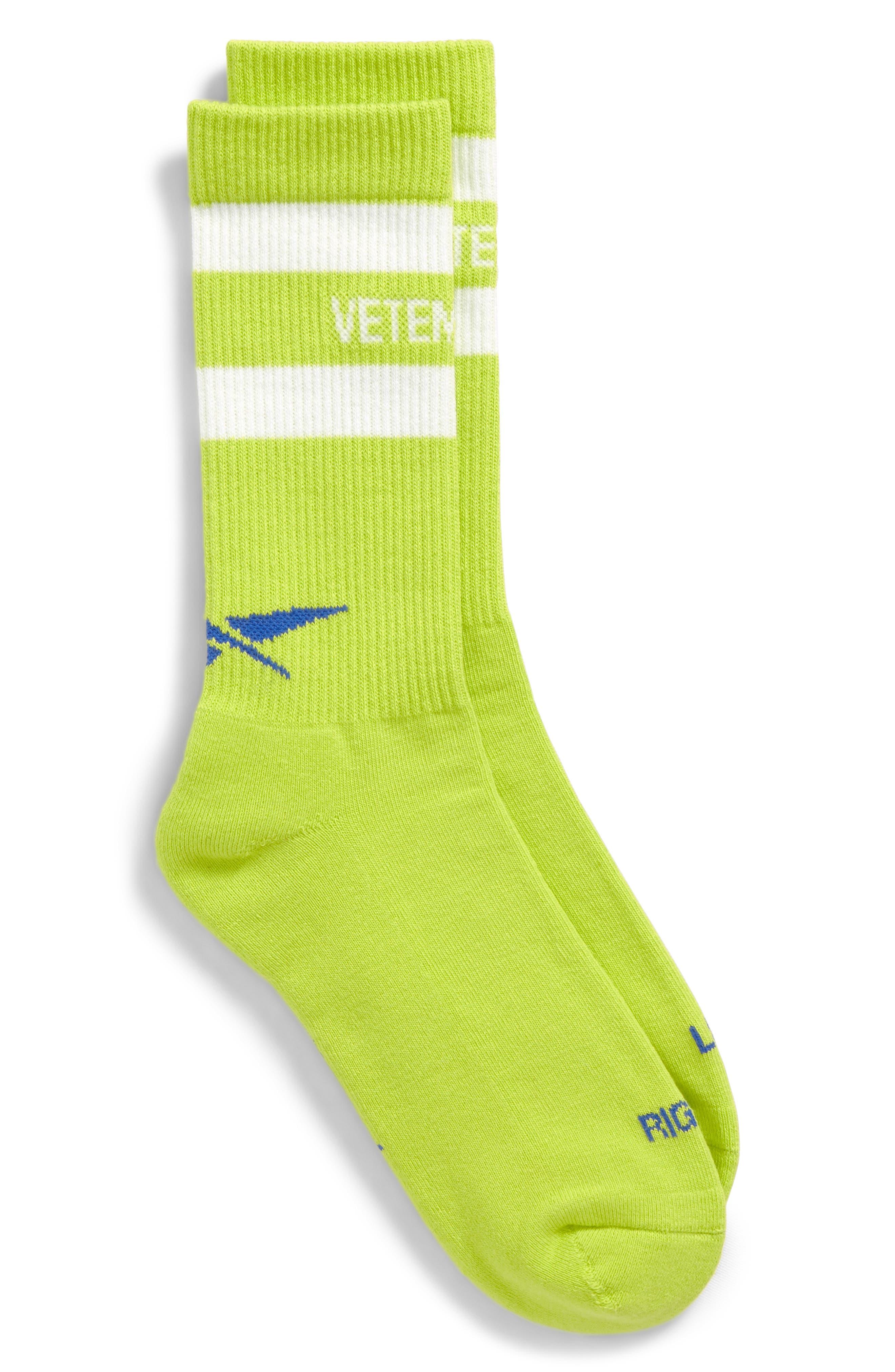 Metal Crew Socks,                             Main thumbnail 1, color,                             Yellow