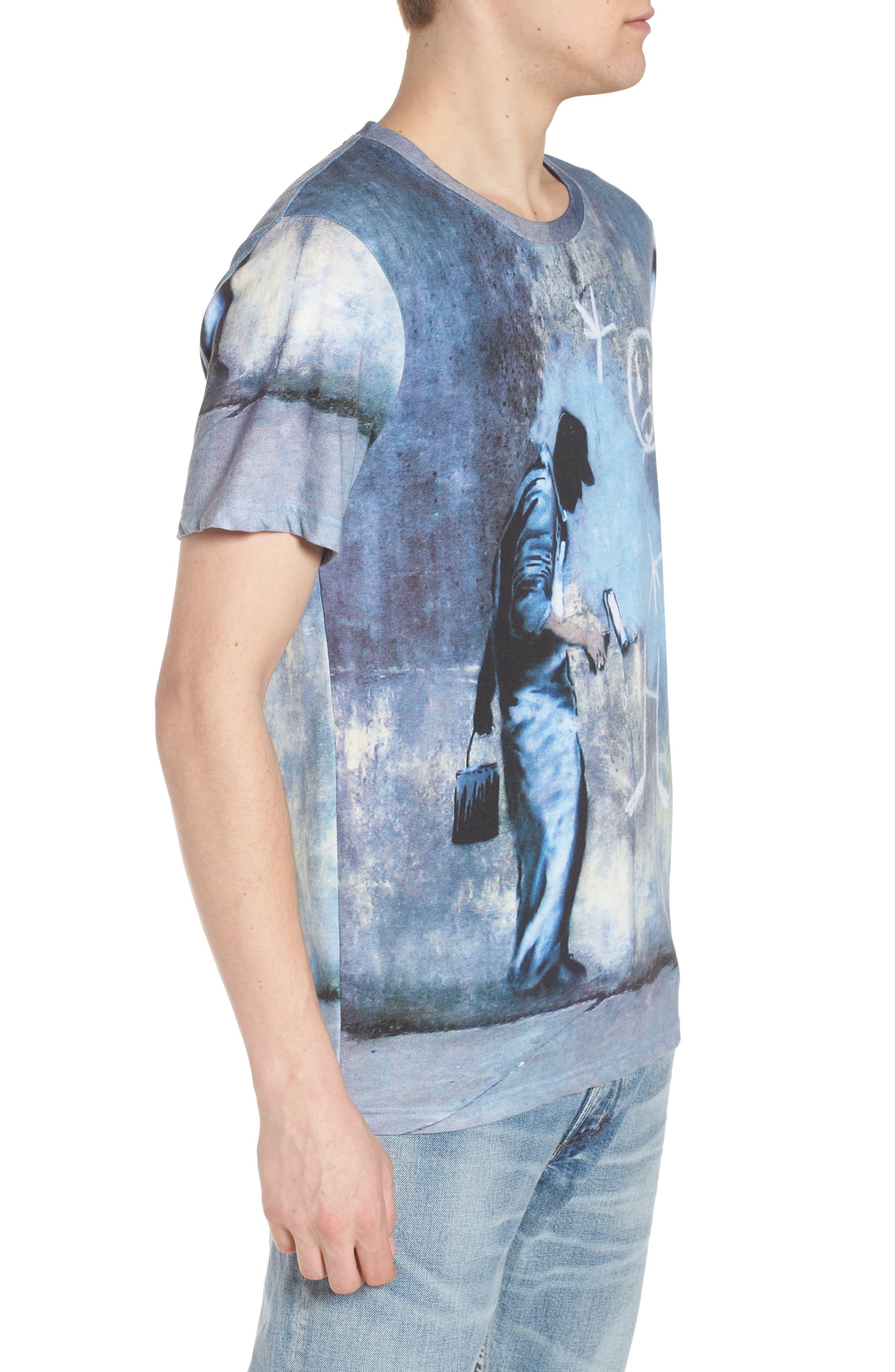 Grey Ghost T-Shirt,                             Alternate thumbnail 3, color,                             Blue/White