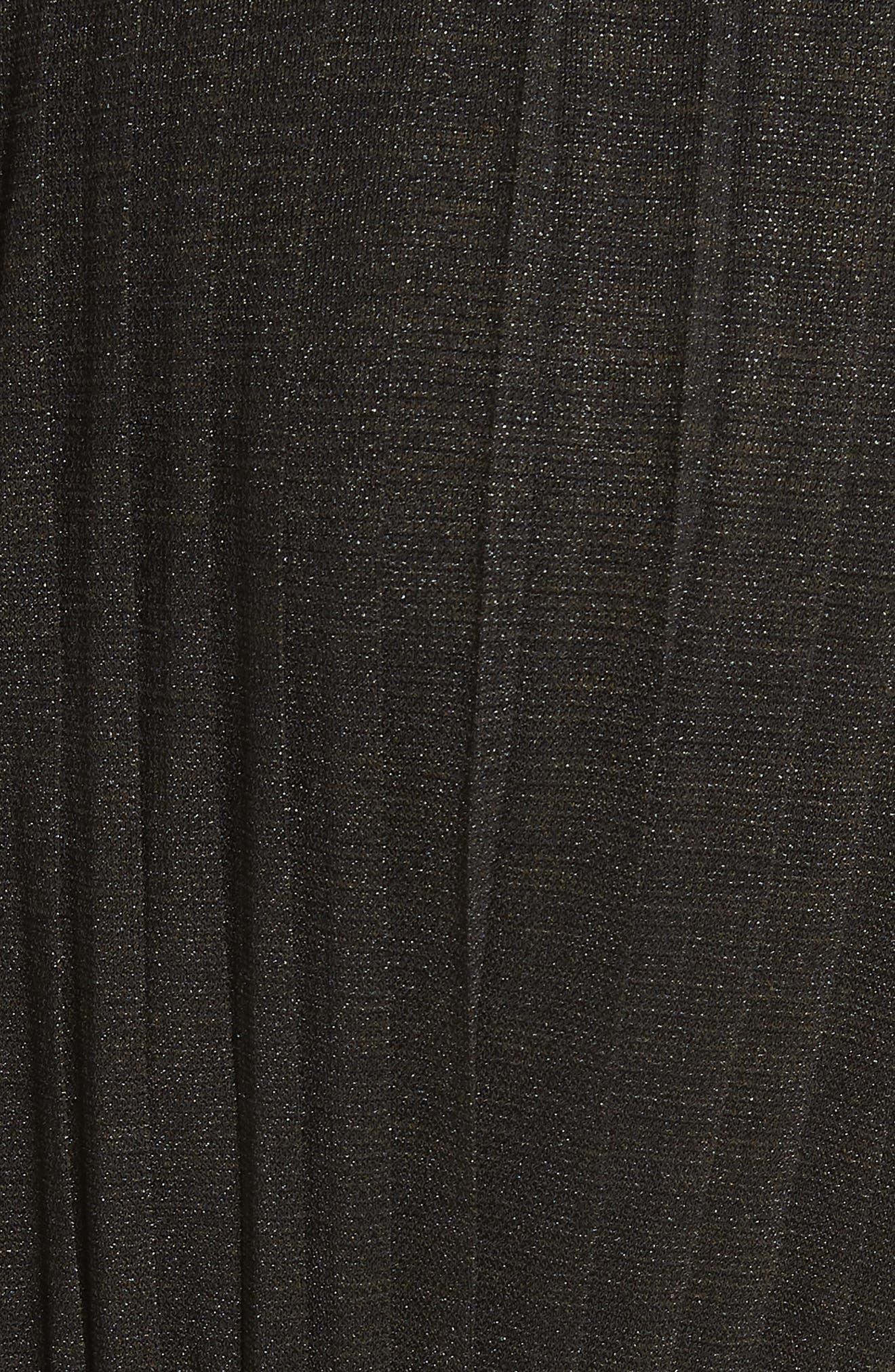 Pleated Wide Leg Jumpsuit,                             Alternate thumbnail 5, color,                             Black
